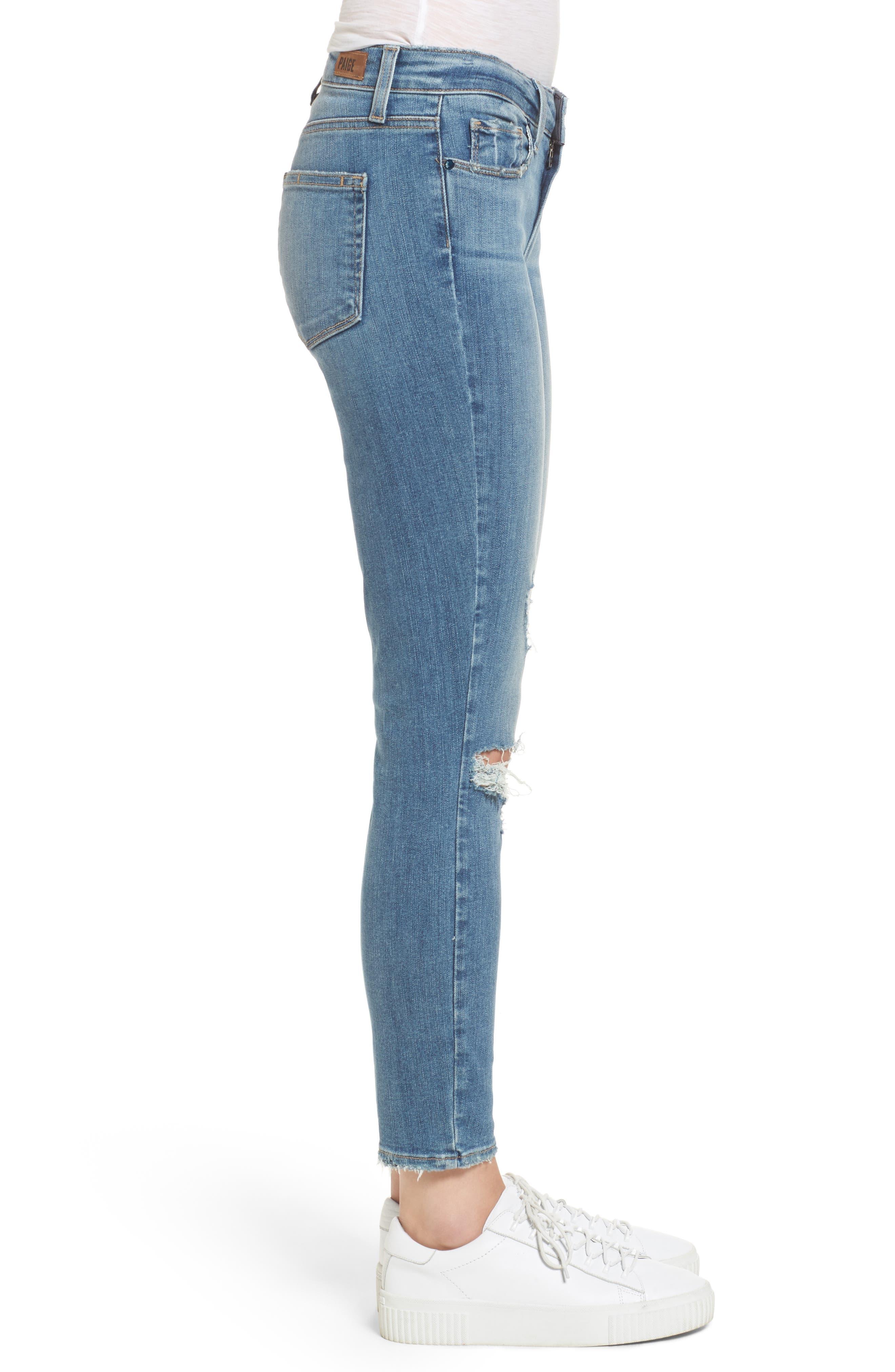 Transcend Vintage - Hoxton High Waist Crop Jeans,                             Alternate thumbnail 4, color,                             400