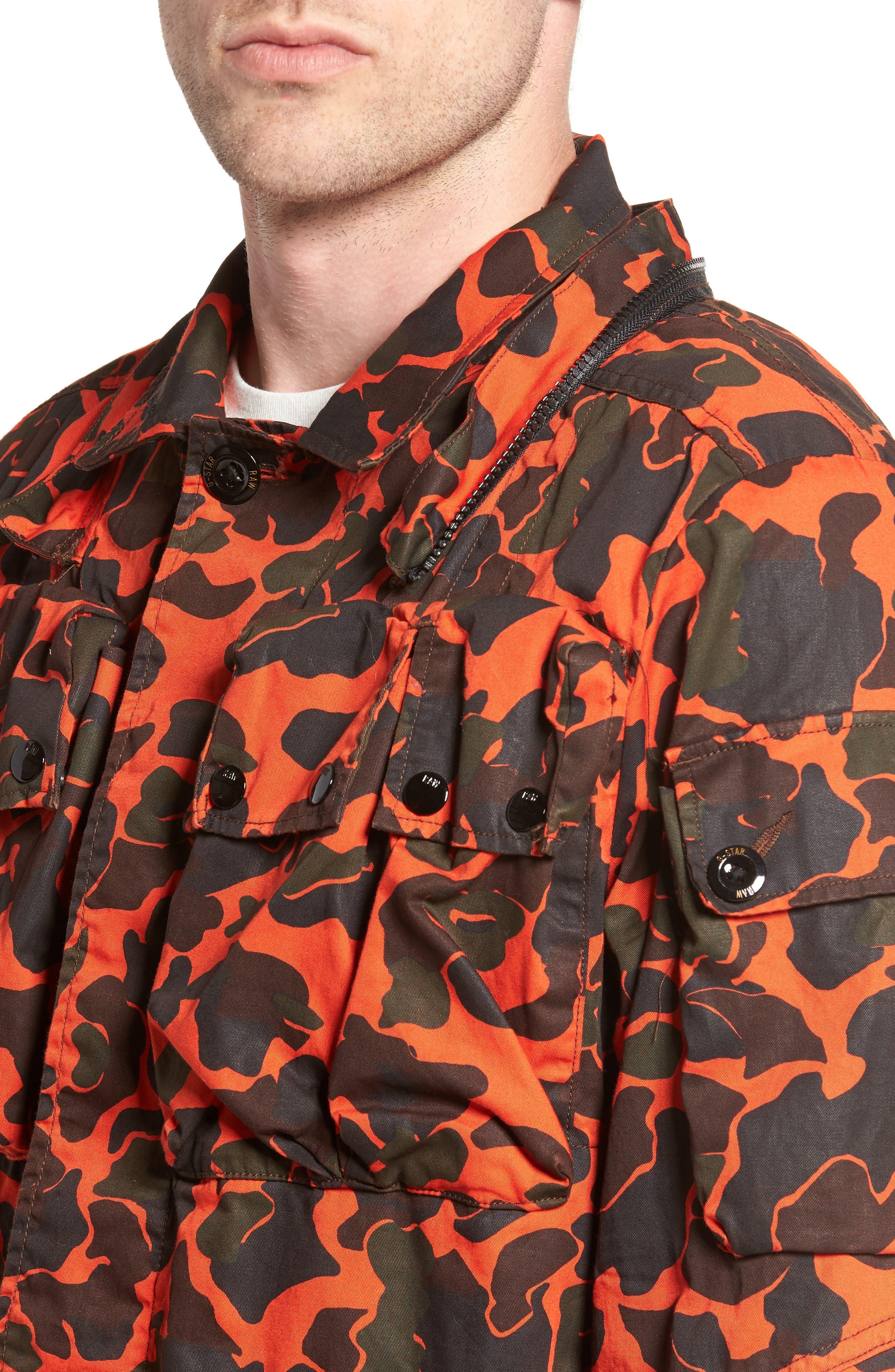 Ospak Submarine Hooded Jacket,                             Alternate thumbnail 4, color,                             800