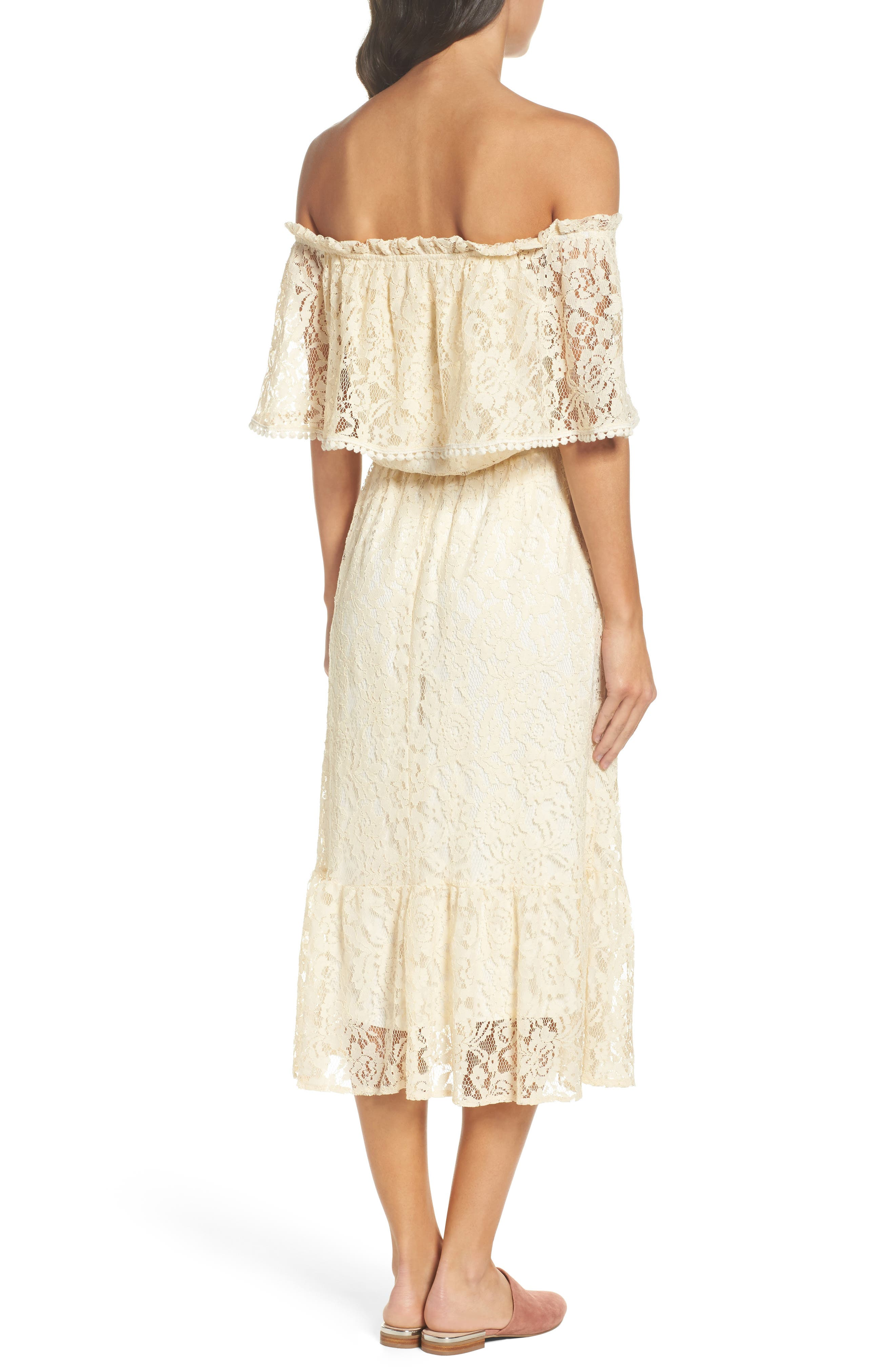 Popover Midi Dress,                             Alternate thumbnail 2, color,                             MELODY