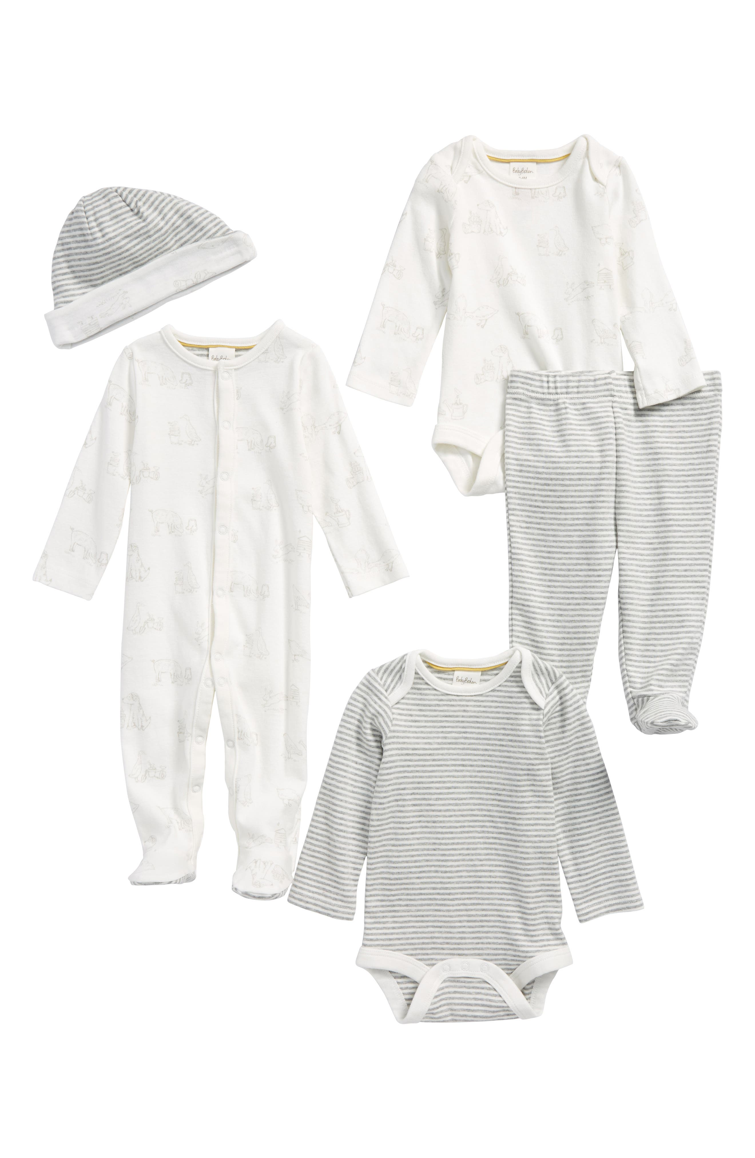 5-Piece Organic Cotton Gift Set,                             Main thumbnail 1, color,                             904