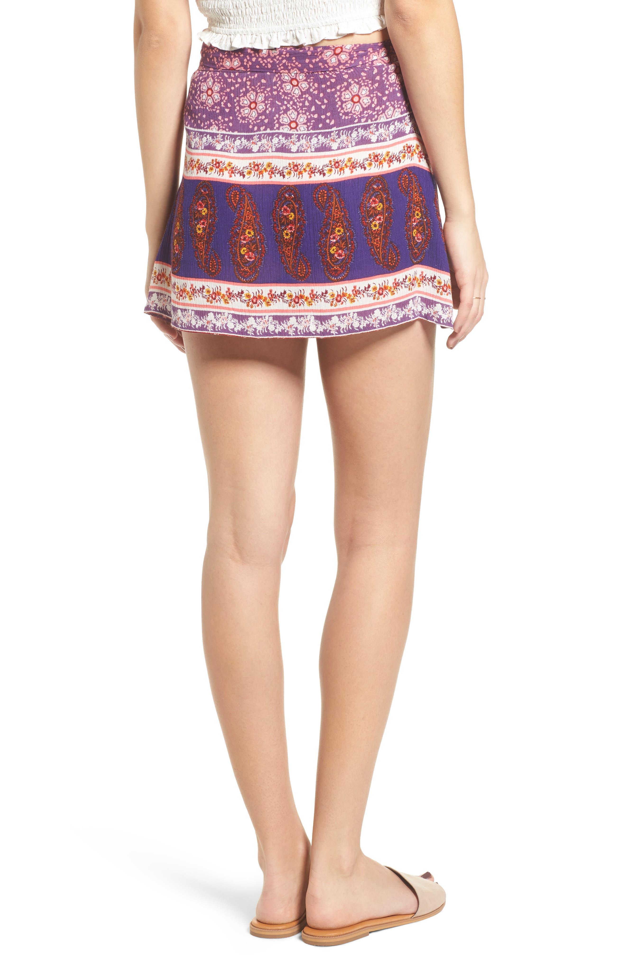 Dana Floral Wrap Skirt,                             Alternate thumbnail 2, color,                             500