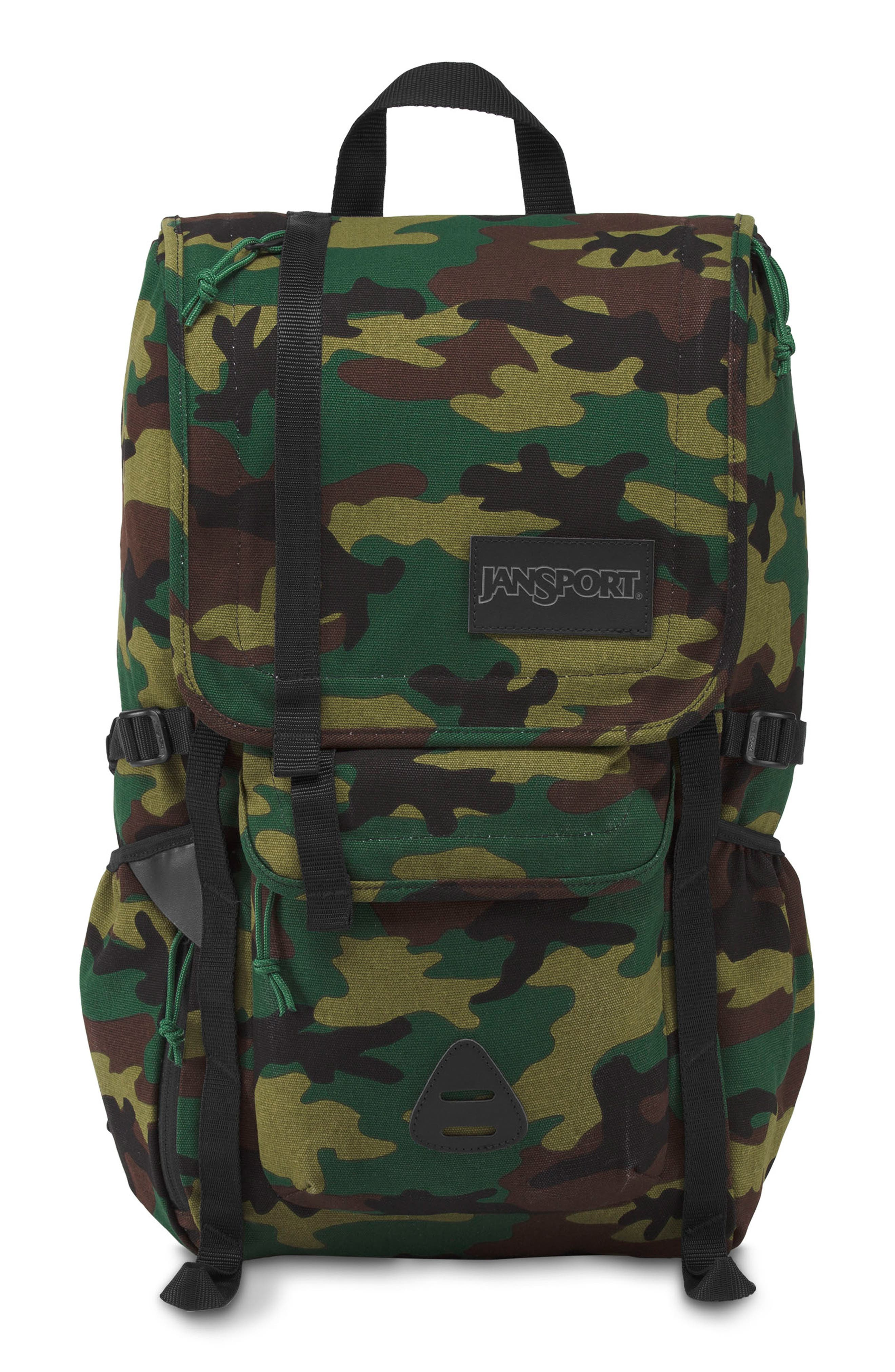 JANSPORT Hatchet Special Edition Backpack - Green in Canvas Surplus Camo