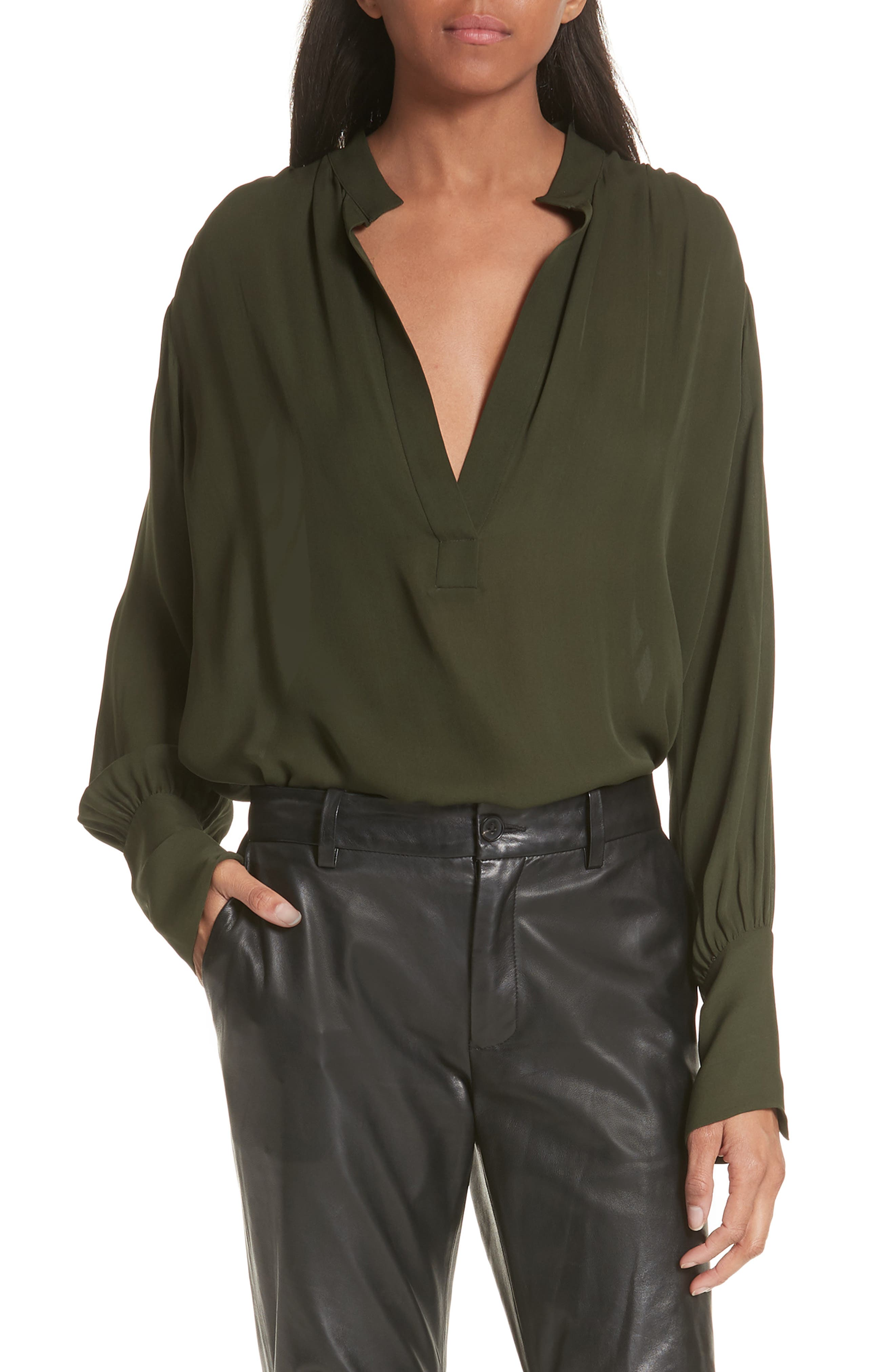 Colette Silk Blouse,                         Main,                         color, 306