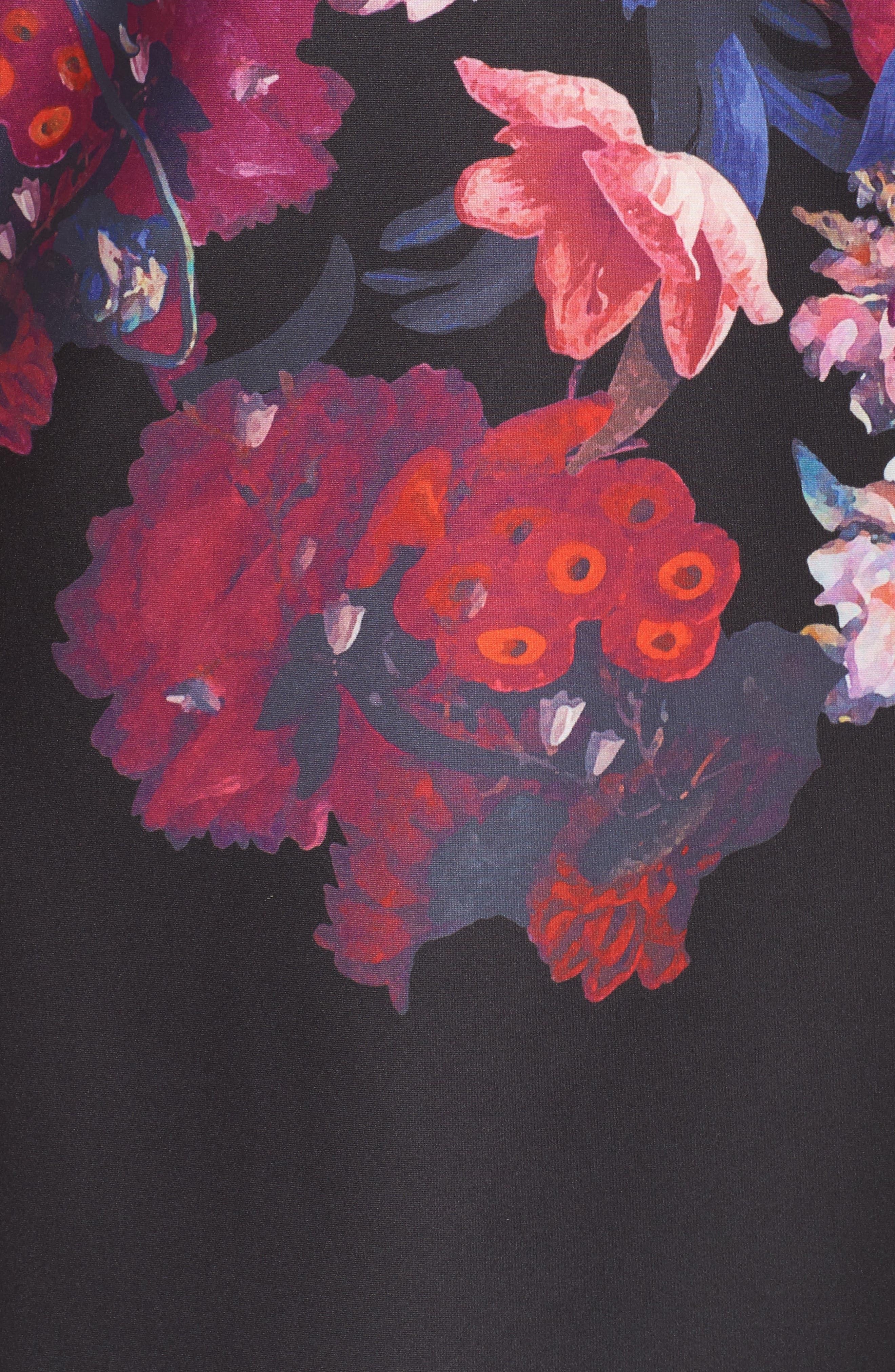 Scuba Sheath Dress,                             Alternate thumbnail 5, color,