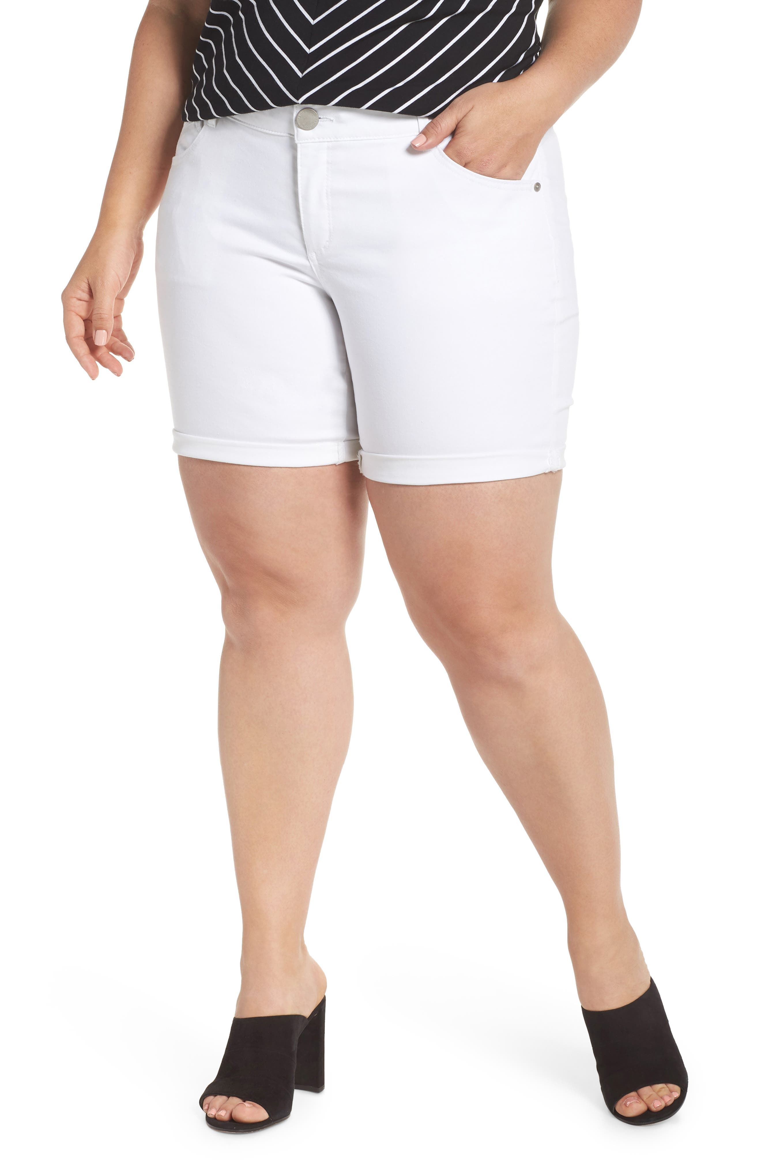 Ab-Solution Stretch Cotton Shorts,                         Main,                         color, 102