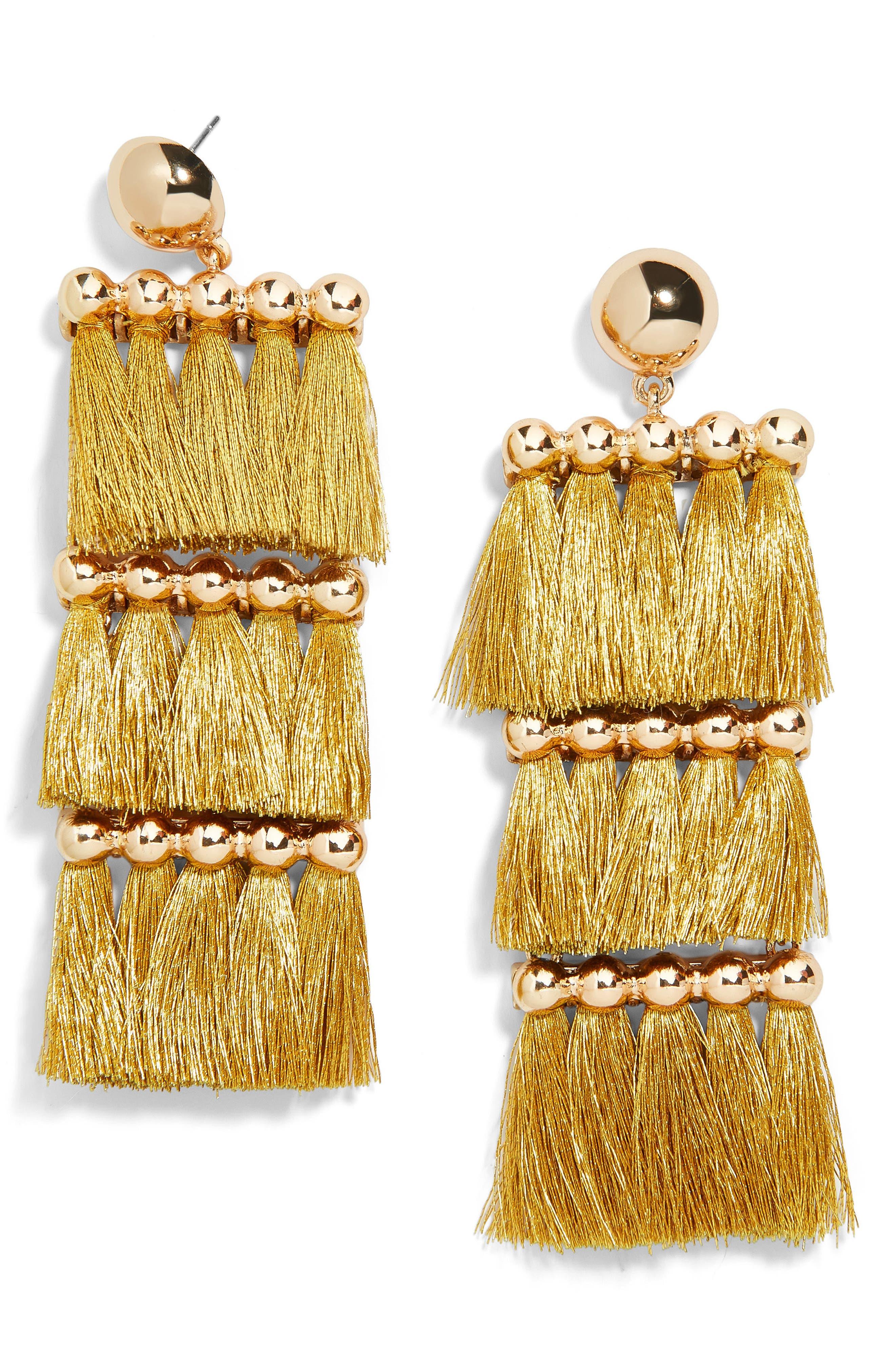 Malaya Tassel Earrings,                             Main thumbnail 1, color,                             710