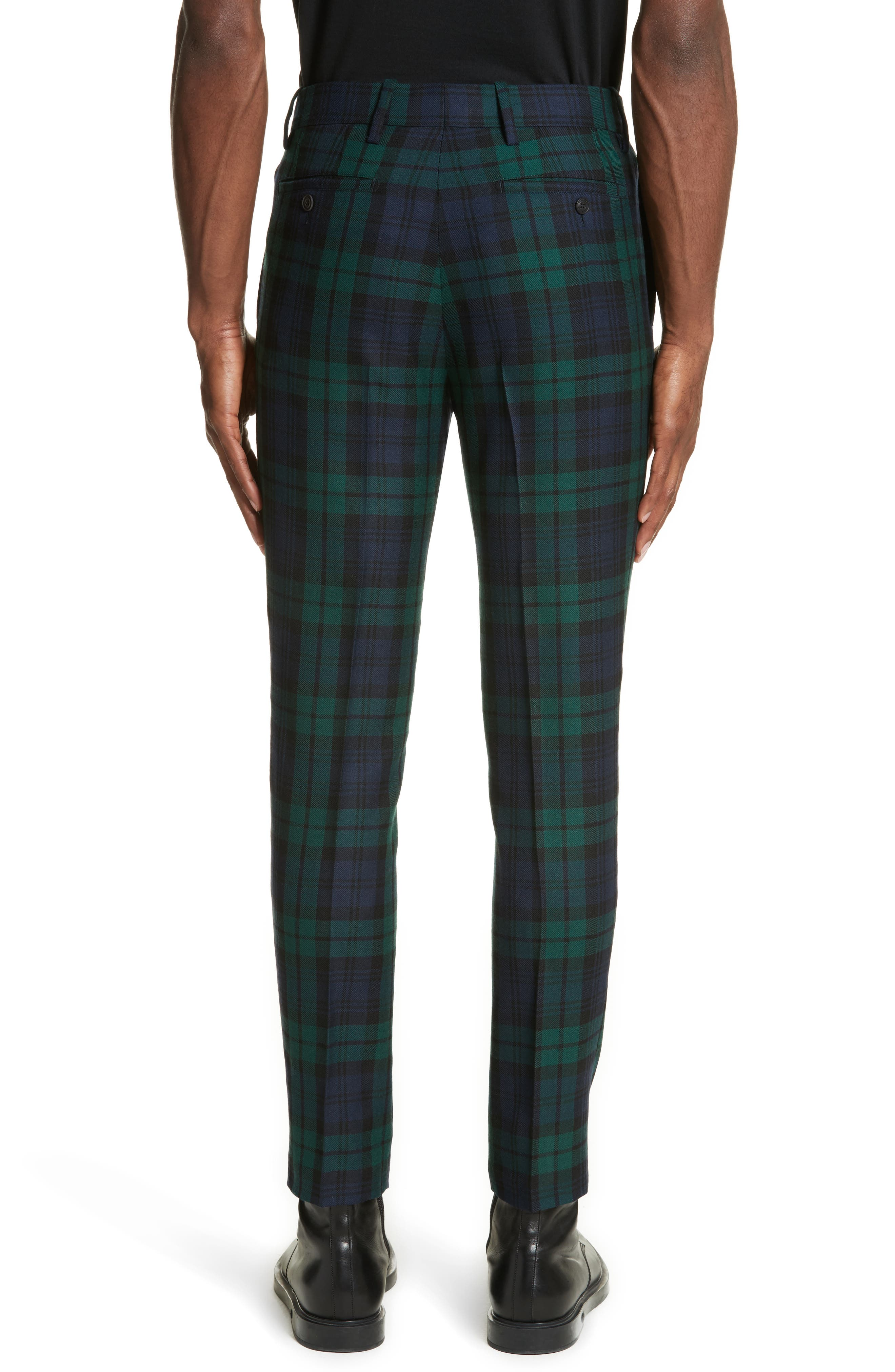 BURBERRY,                             Serpentine Check Wool Pants,                             Alternate thumbnail 2, color,                             410