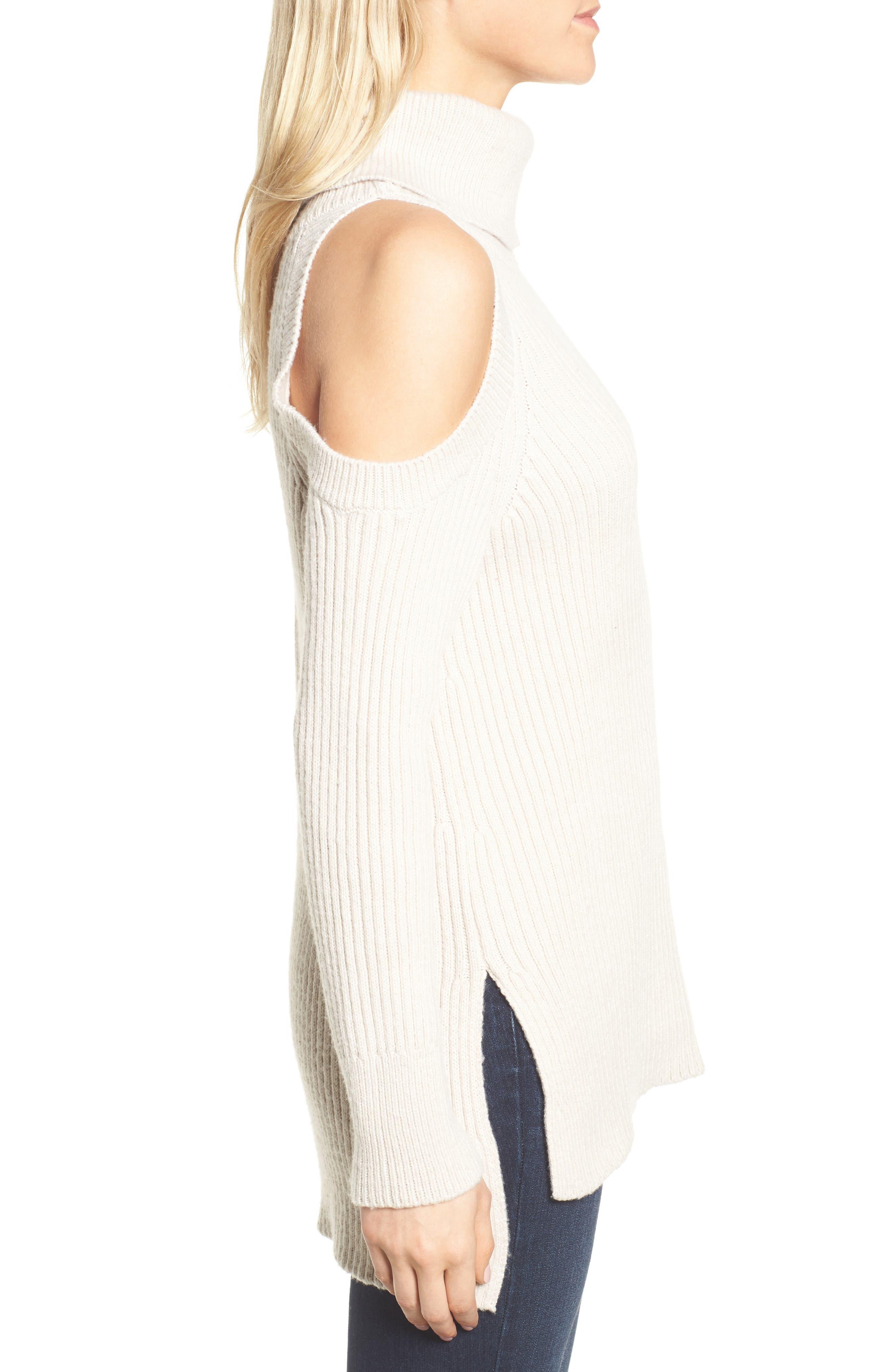 Rodell Cold Shoulder Sweater,                             Alternate thumbnail 6, color,