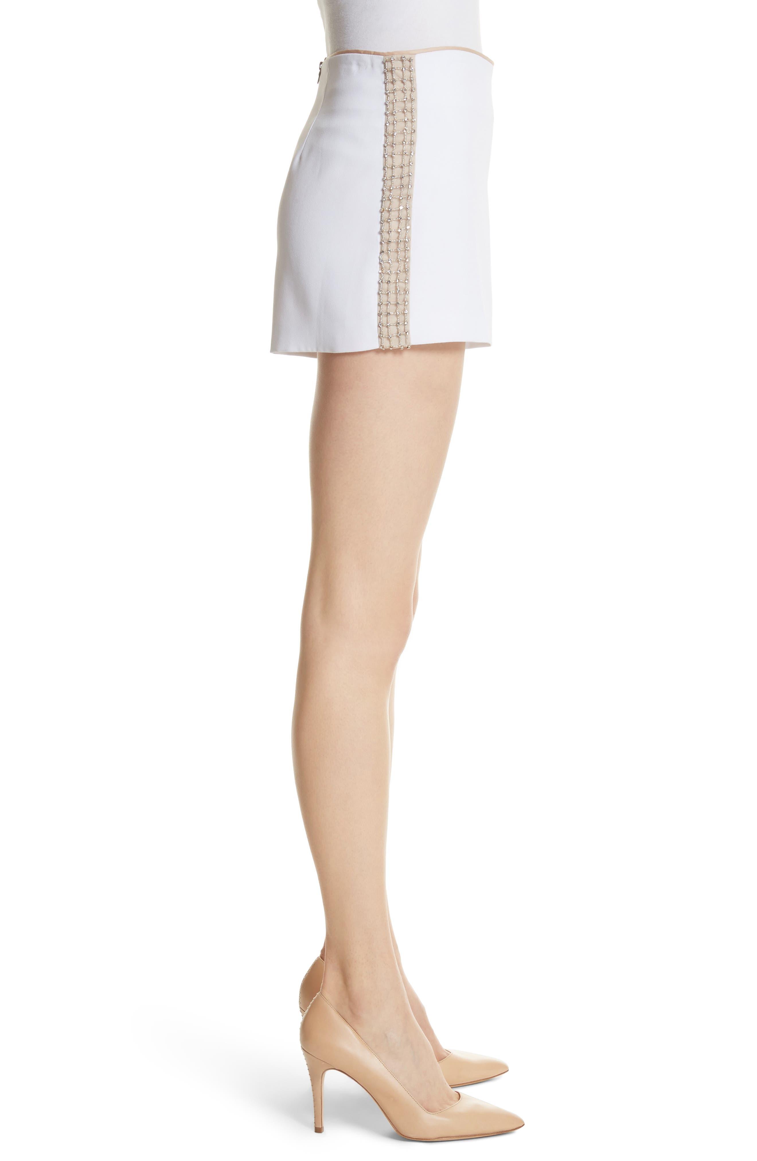 Sherri Embellished Shorts,                             Alternate thumbnail 3, color,                             100