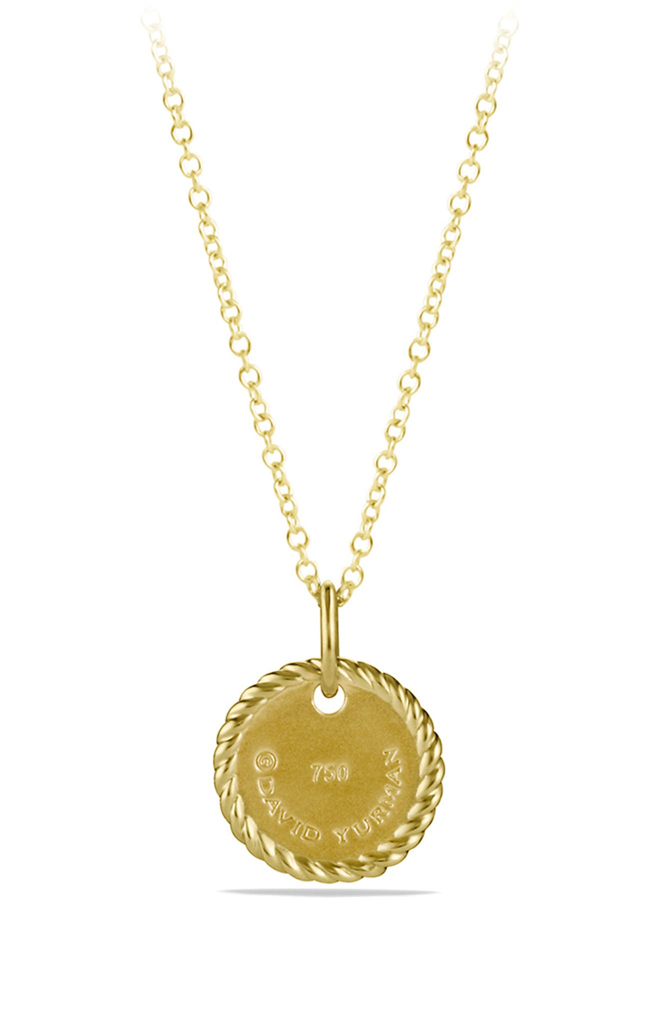 'Cable Collectibles' Initial Pendant with Diamonds in Gold on Chain,                             Alternate thumbnail 3, color,                             B