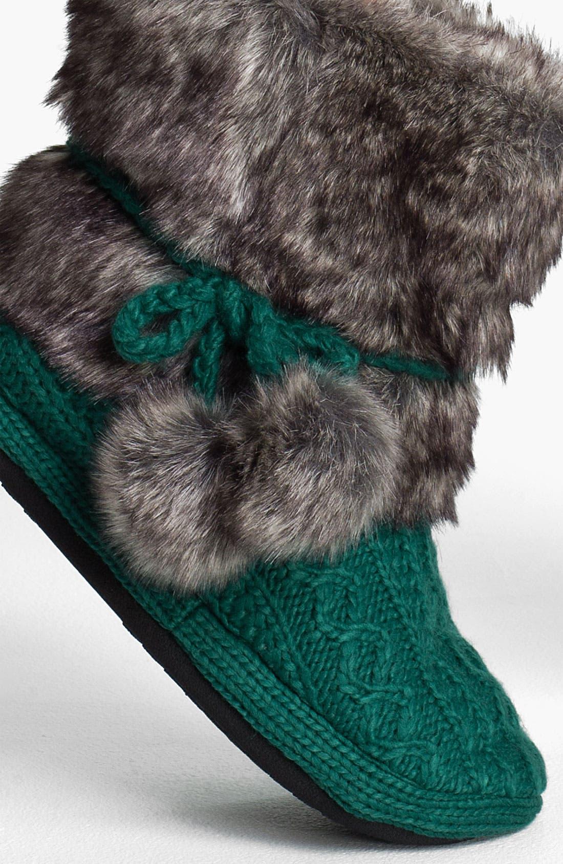 Faux Fur Trim Slipper Socks,                             Alternate thumbnail 2, color,                             300