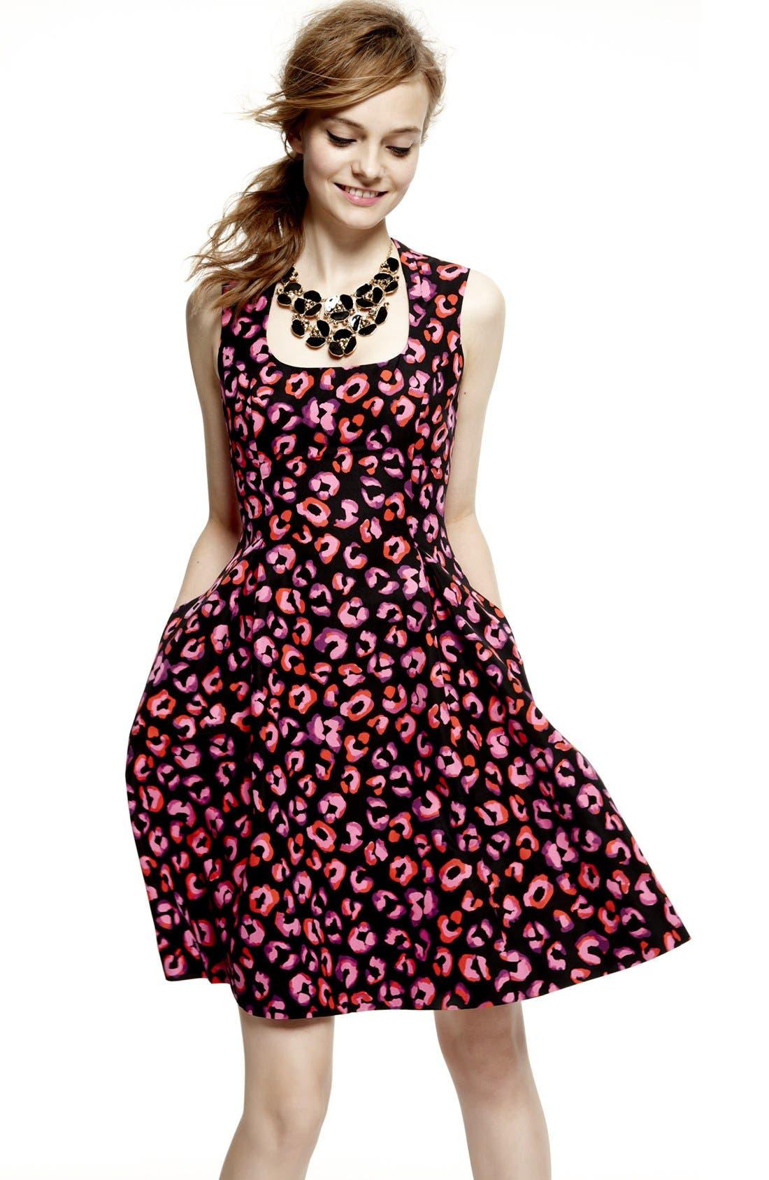 'kimi' cotton & silk a-line dress,                             Alternate thumbnail 4, color,                             683