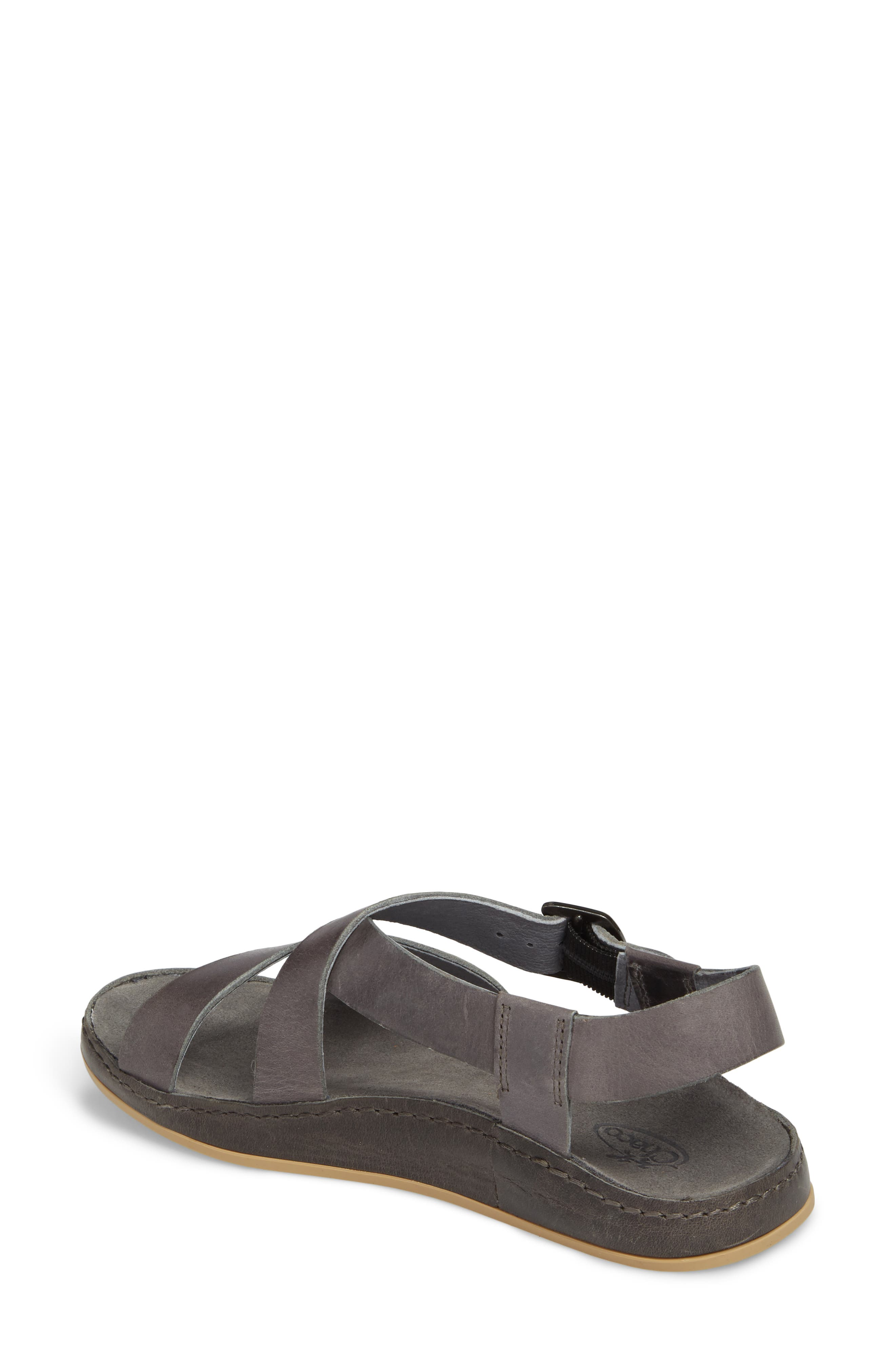 Strappy Sandal,                             Alternate thumbnail 2, color,                             GREY LEATHER