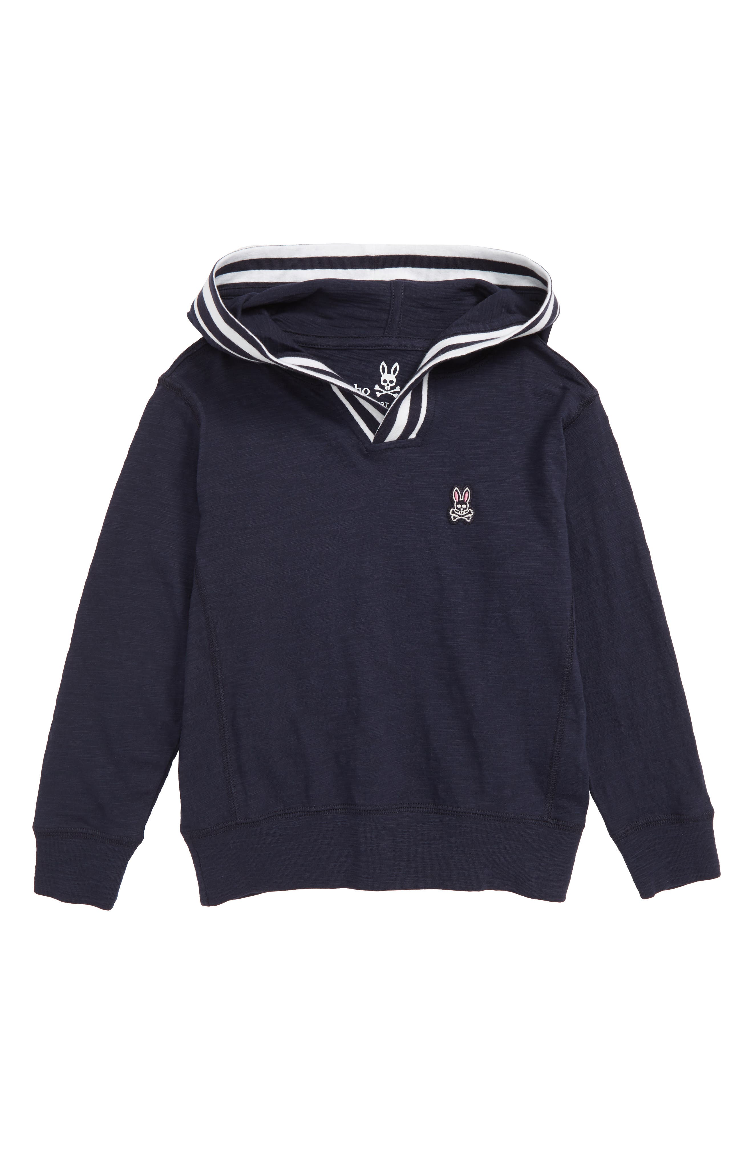 Ludford Hooded T-Shirt, Main, color, NAVY