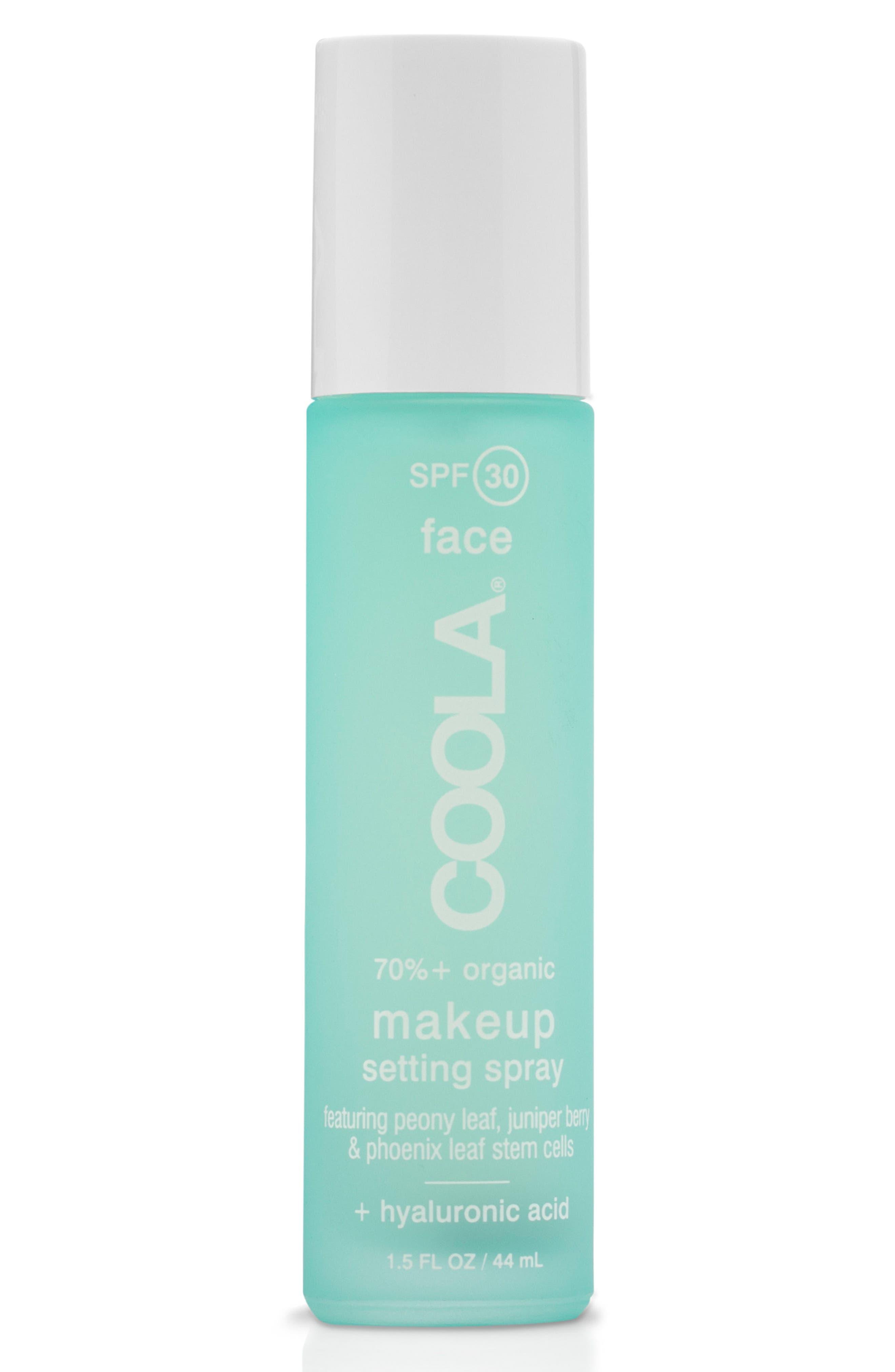 COOLA SUNCARE,                             COOLA<sup>®</sup> Suncare Classic SPF 30 Makeup Setting Spray,                             Main thumbnail 1, color,                             000