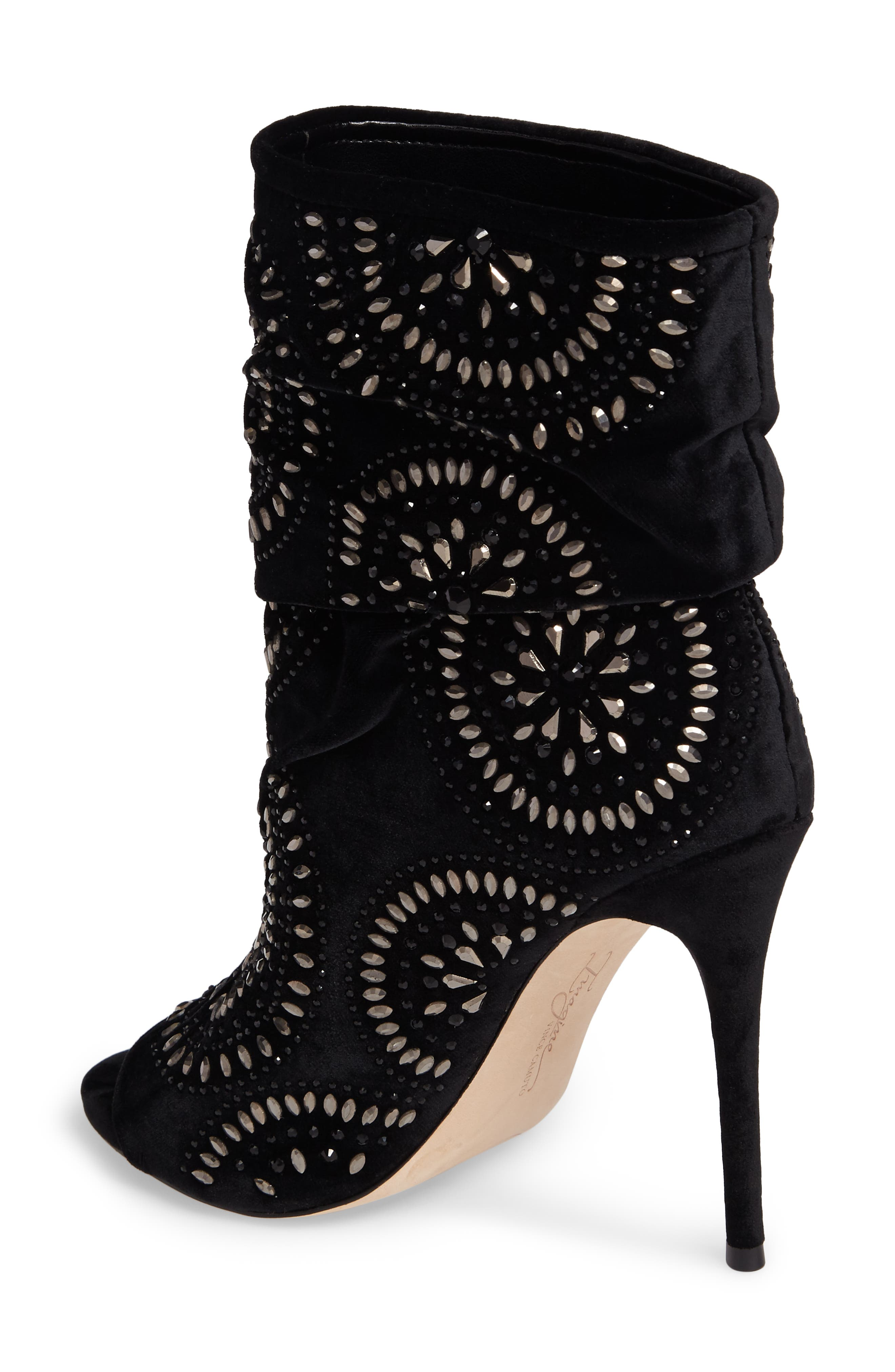 Imagine Vince Camuto Delore Embellished Slouchy Bootie,                             Alternate thumbnail 2, color,                             001
