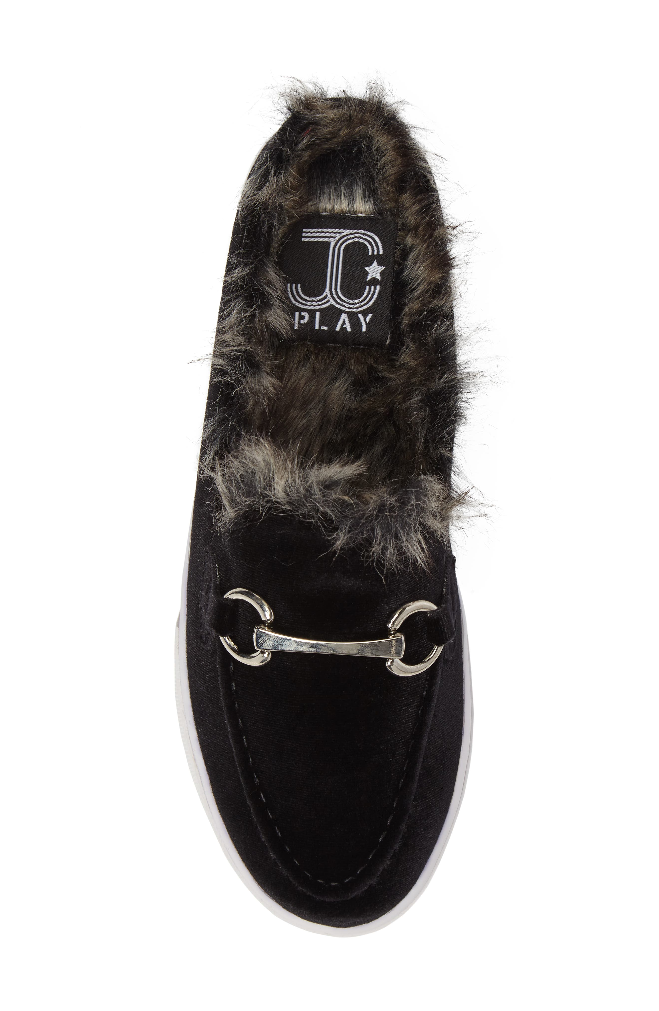Tico Faux Fur Sneaker Mule,                             Alternate thumbnail 5, color,                             003