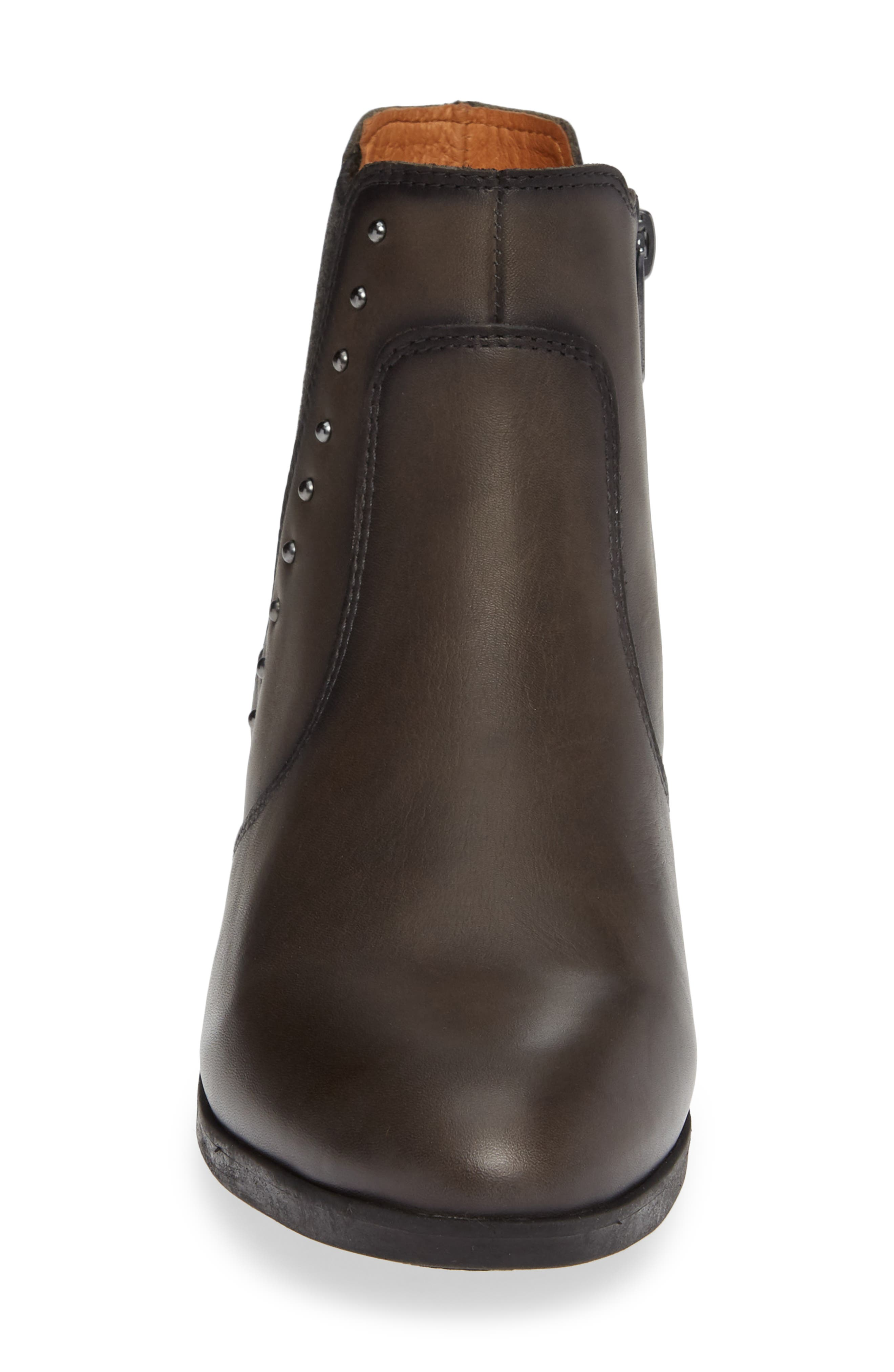 Daroca Studded Bootie,                             Alternate thumbnail 4, color,                             LEAD LEATHER