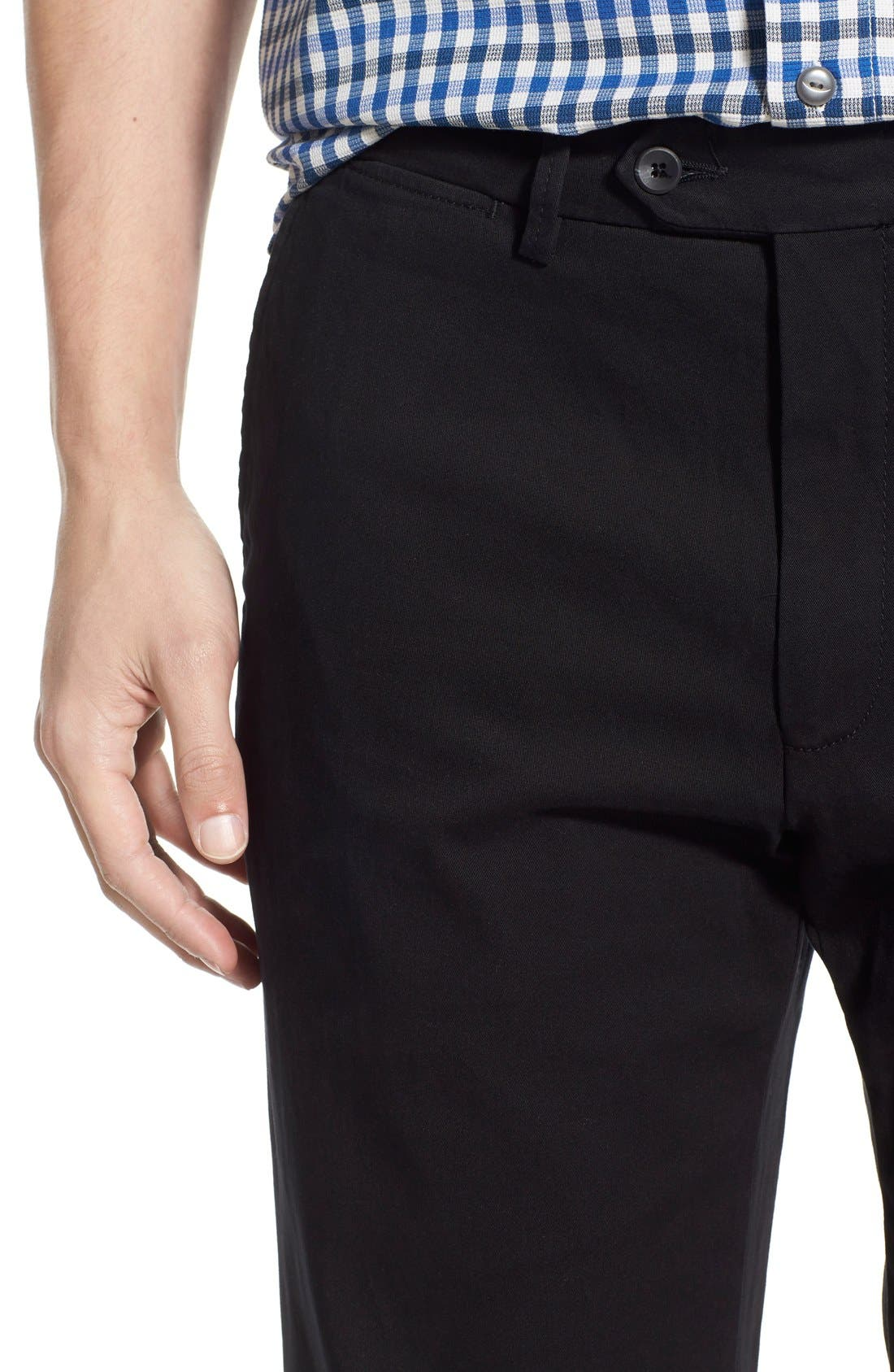 Mansfield Pima Cotton Pant,                             Alternate thumbnail 5, color,                             001