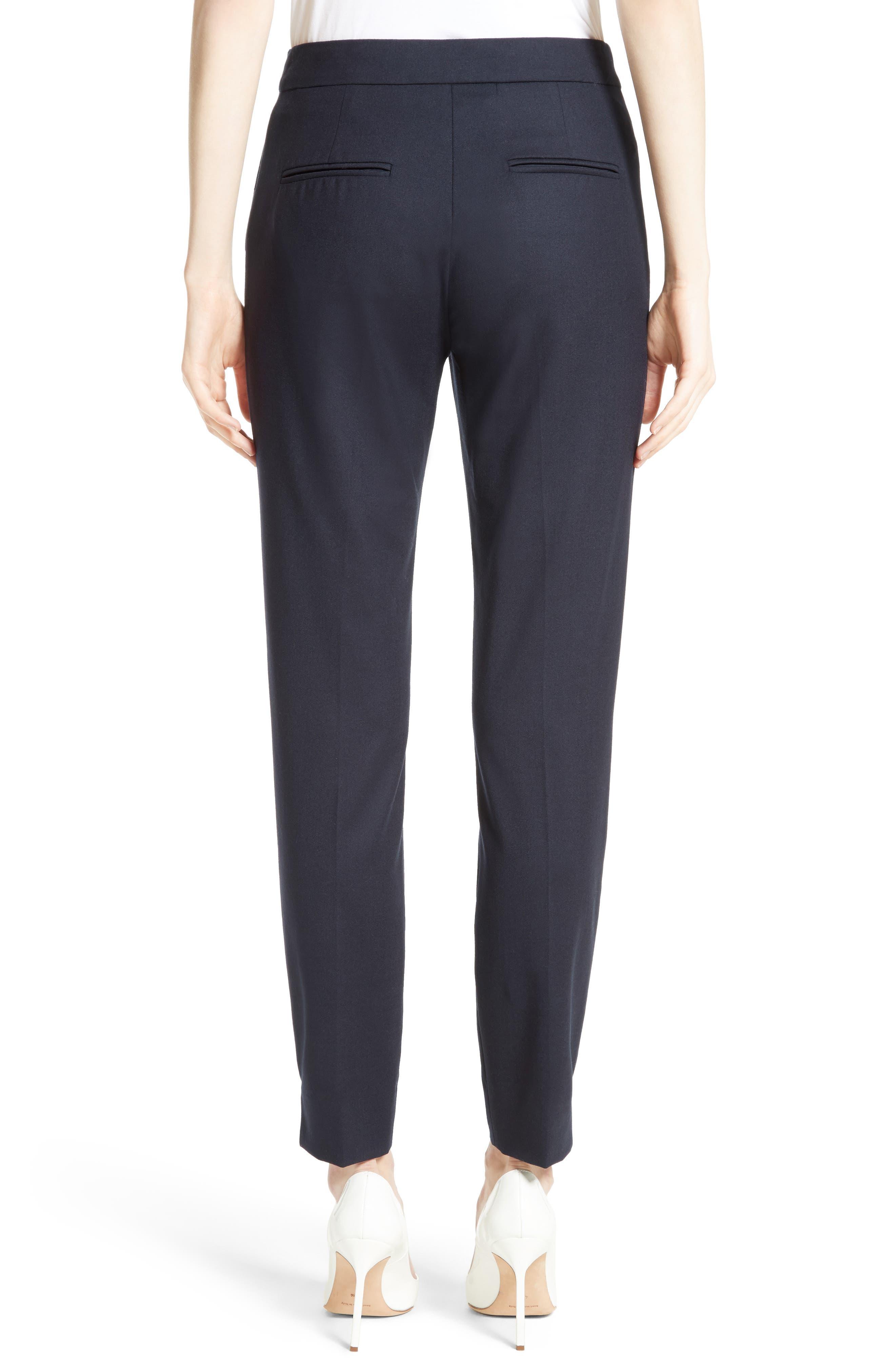 Maser Crop Stretch Wool Pants,                             Alternate thumbnail 2, color,                             411