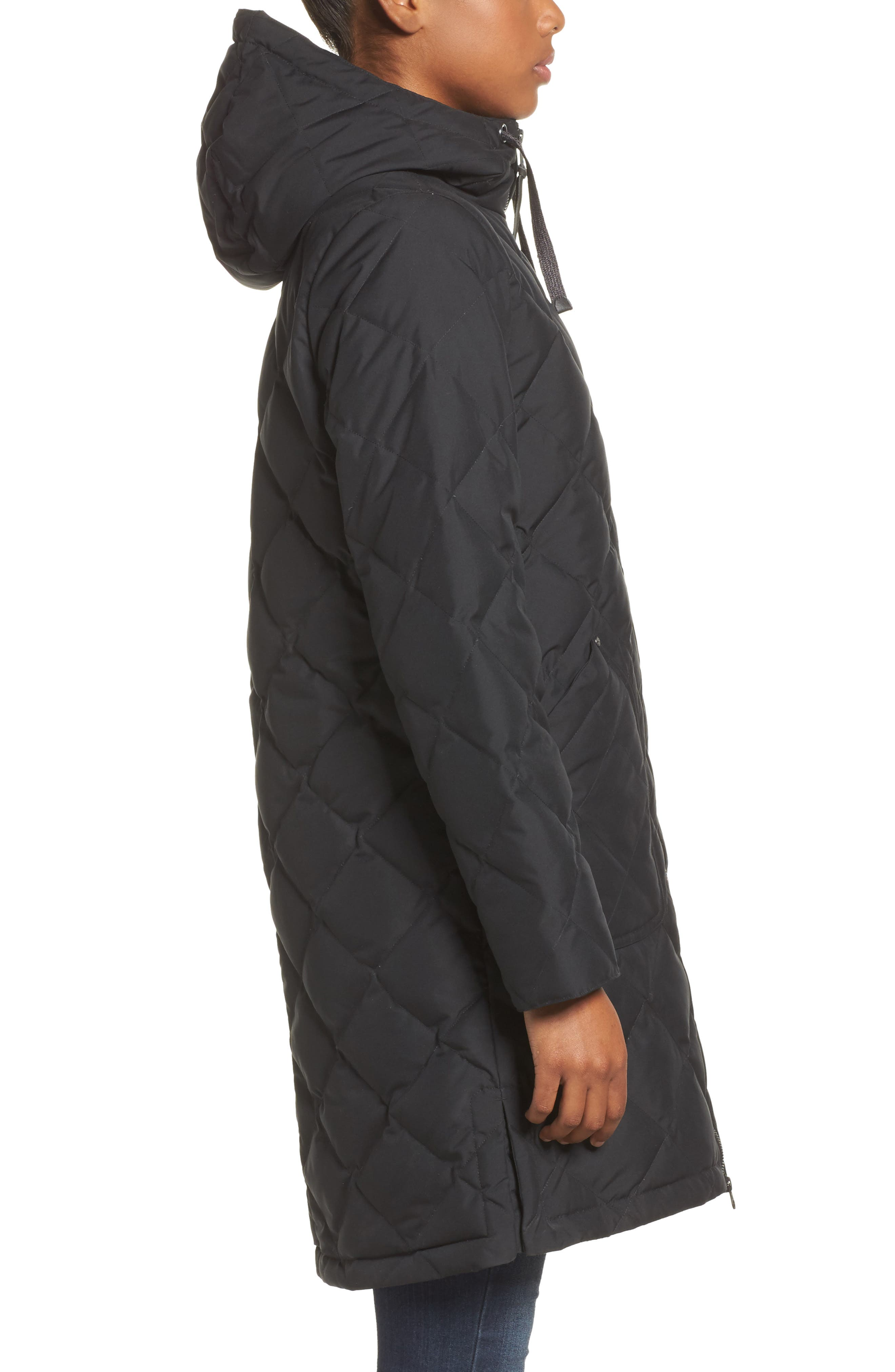 Bixby Long Down Jacket,                             Alternate thumbnail 3, color,                             001