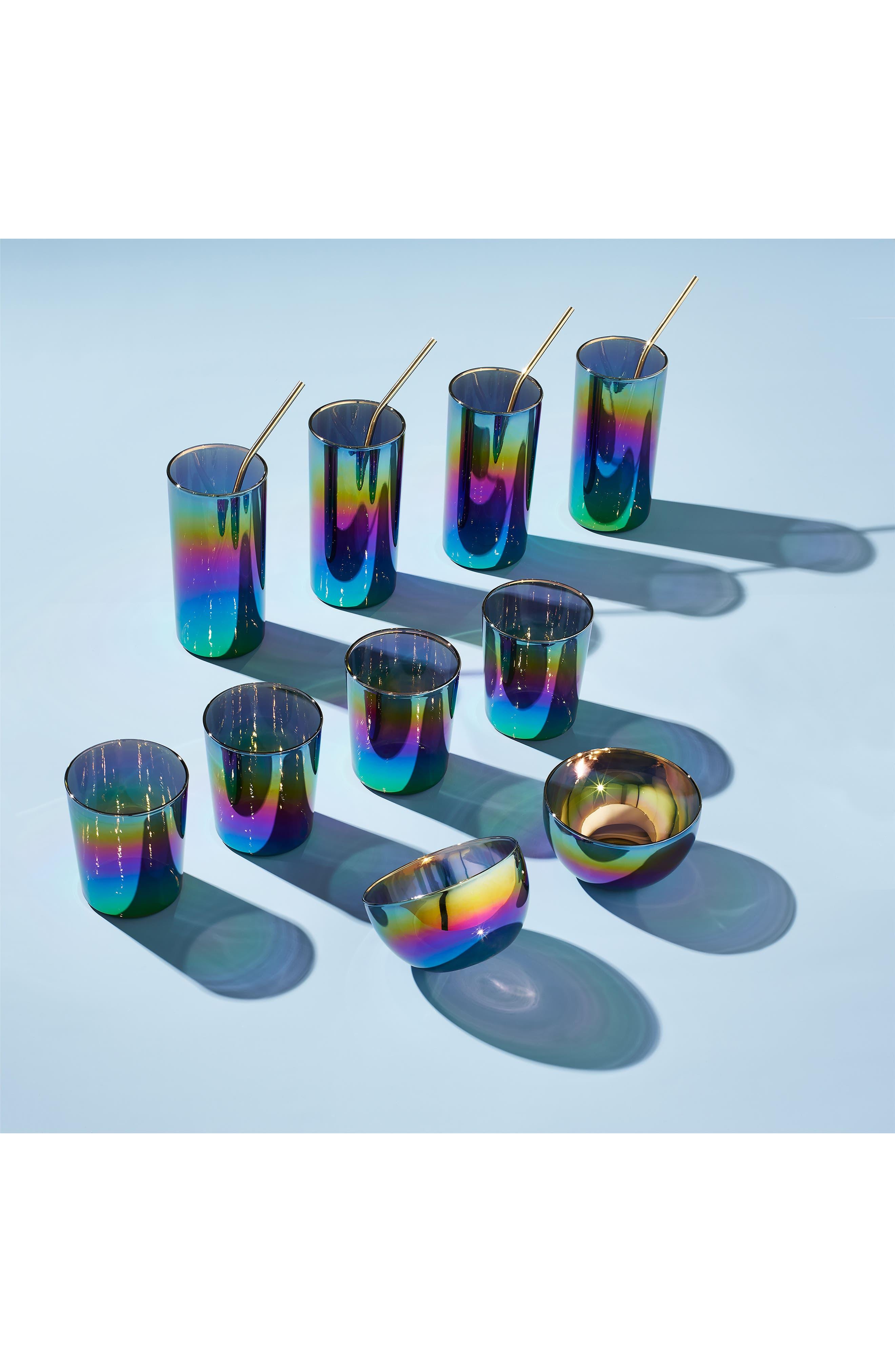 Shimmerware Set of 4 Rocks Glasses,                             Alternate thumbnail 5, color,                             960