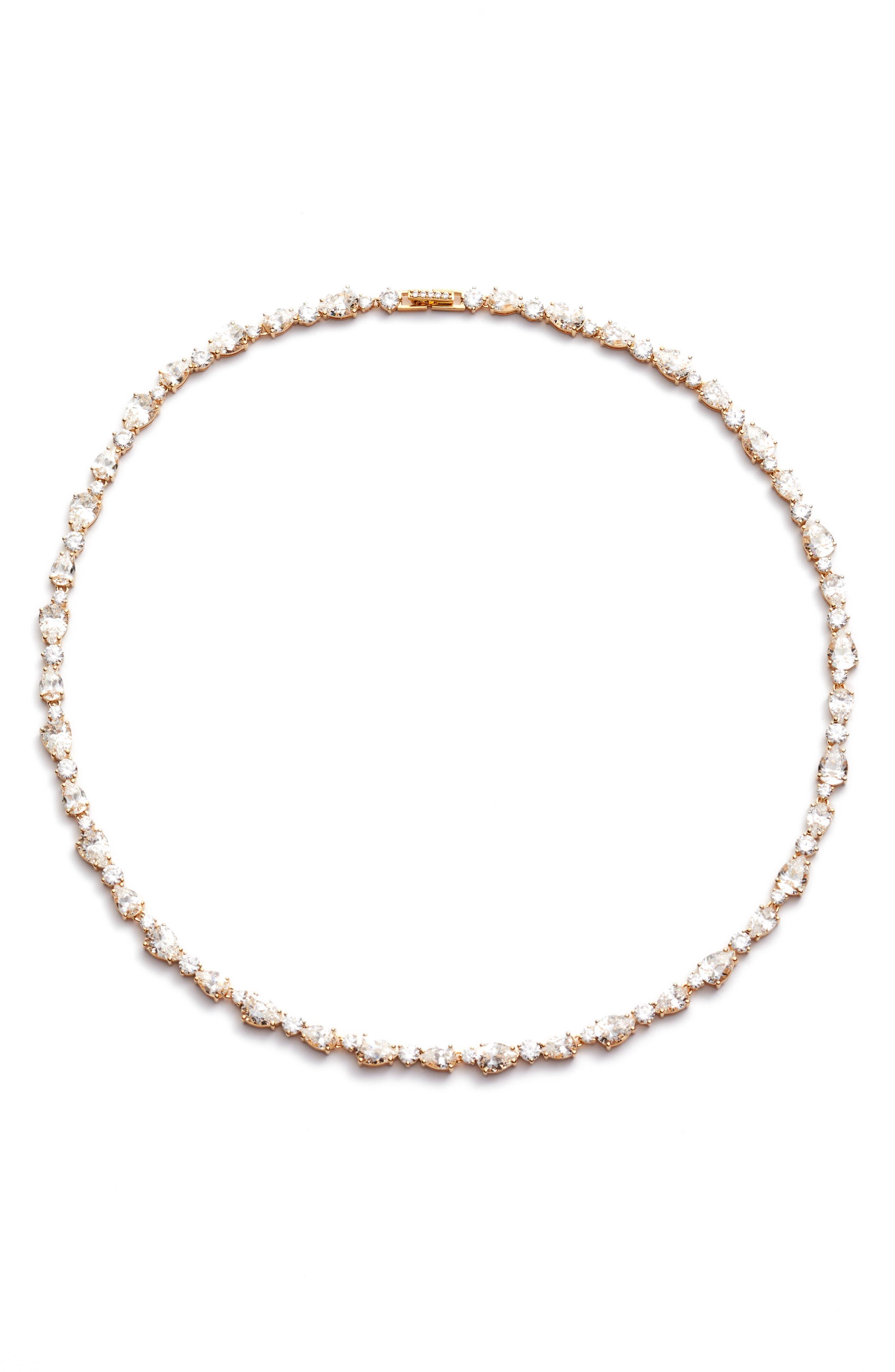 Ava Crystal Collar Necklace,                         Main,                         color, 040