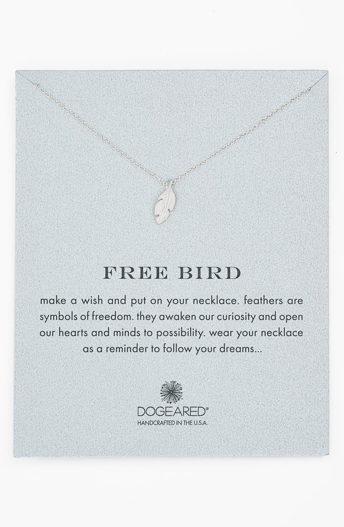 'Reminder - Free Bird' Feather Necklace,                         Main,                         color, 040