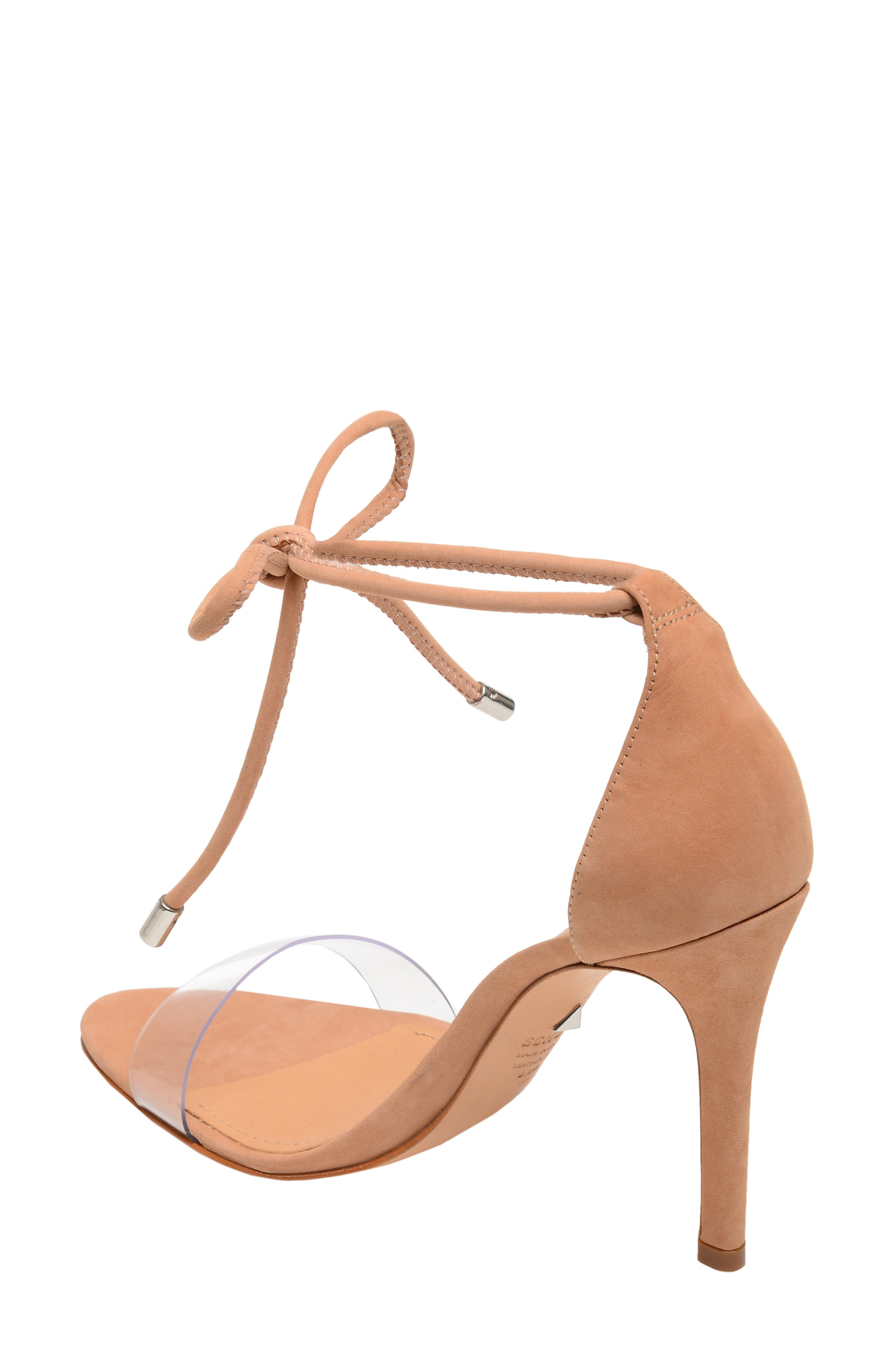 Shutz Monique Ankle Tie Sandal,                             Alternate thumbnail 2, color,                             TRANSPARENT/ HONEY BEIGE