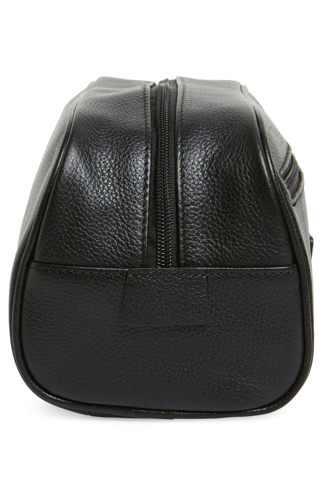 Leather Travel Kit,                             Alternate thumbnail 4, color,                             001