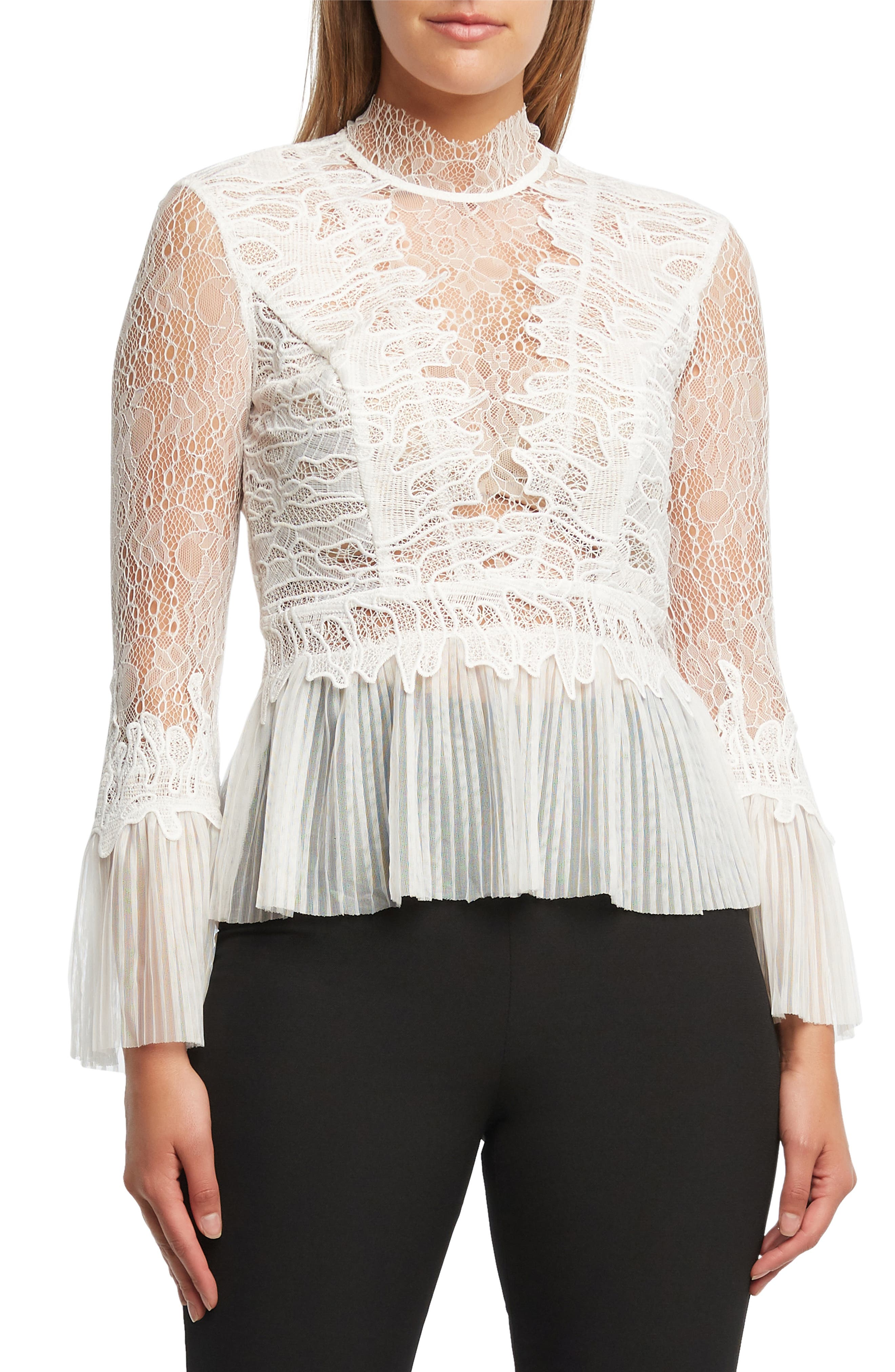 Francesca Lace Blouse in Ivory