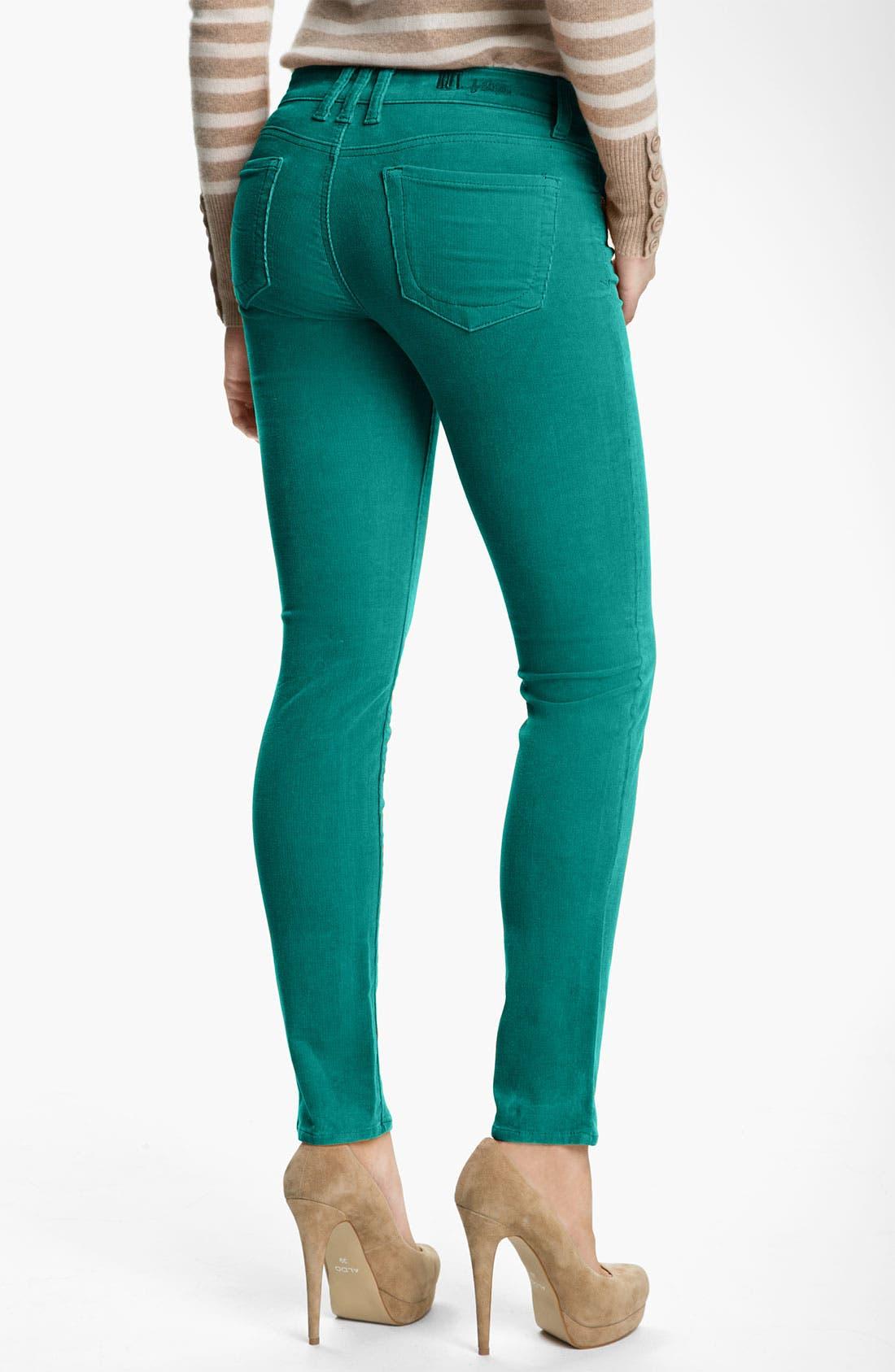 'Diana' Stretch Corduroy Skinny Pants,                             Alternate thumbnail 85, color,