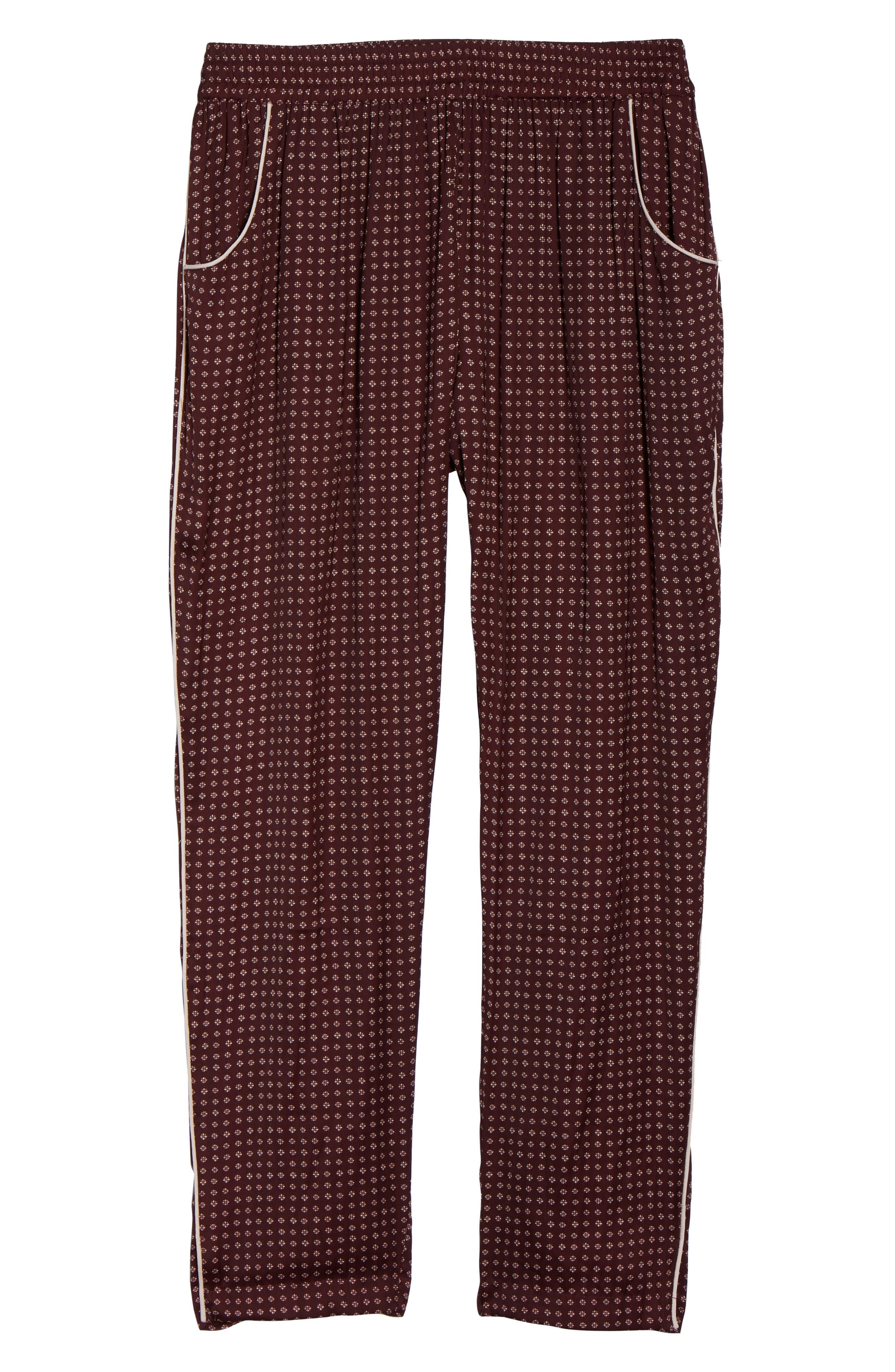 Satin Pajama Pants,                             Alternate thumbnail 7, color,                             610