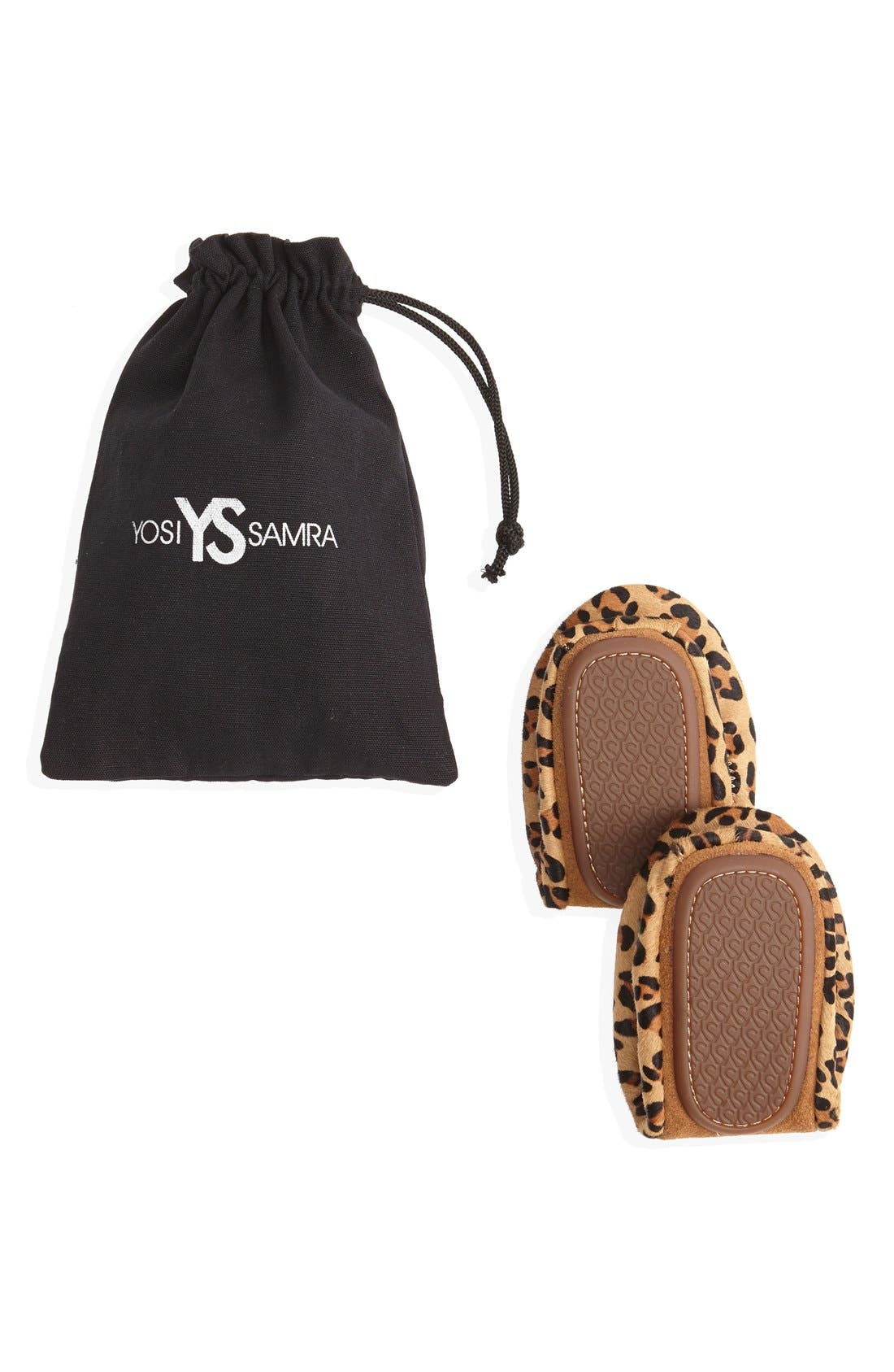 'Samara' Genuine Calf Hair Foldable Ballet Flat,                             Alternate thumbnail 6, color,                             201