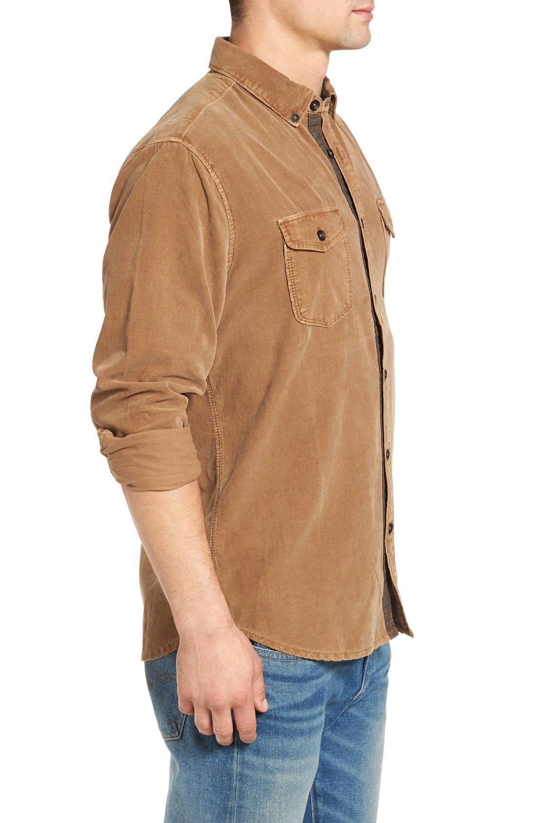 'Jaymes' Pigment Dyed Corduroy Shirt,                             Alternate thumbnail 10, color,