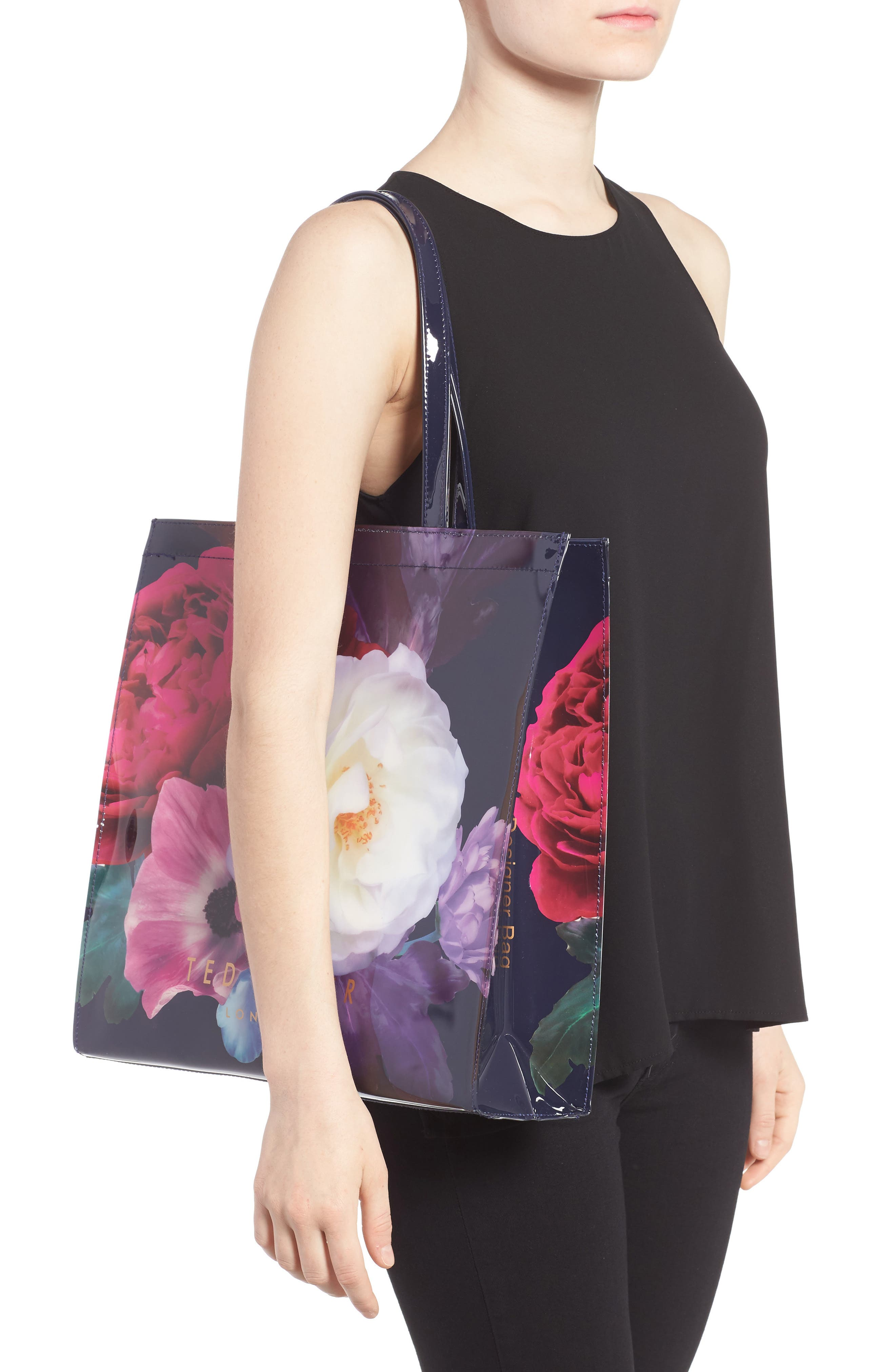 TED BAKER LONDON,                             Blushing Bouquet Large Icon Tote,                             Alternate thumbnail 2, color,                             410