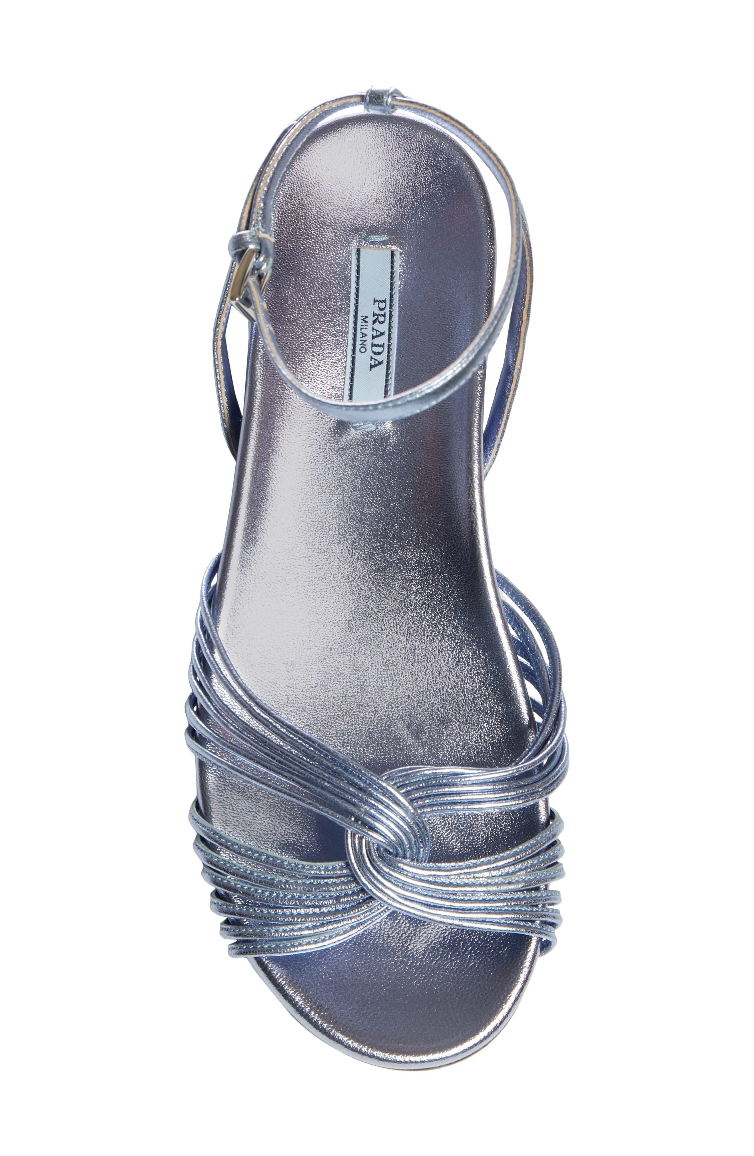 Roping Sandal,                             Alternate thumbnail 5, color,                             BLUE LEATHER