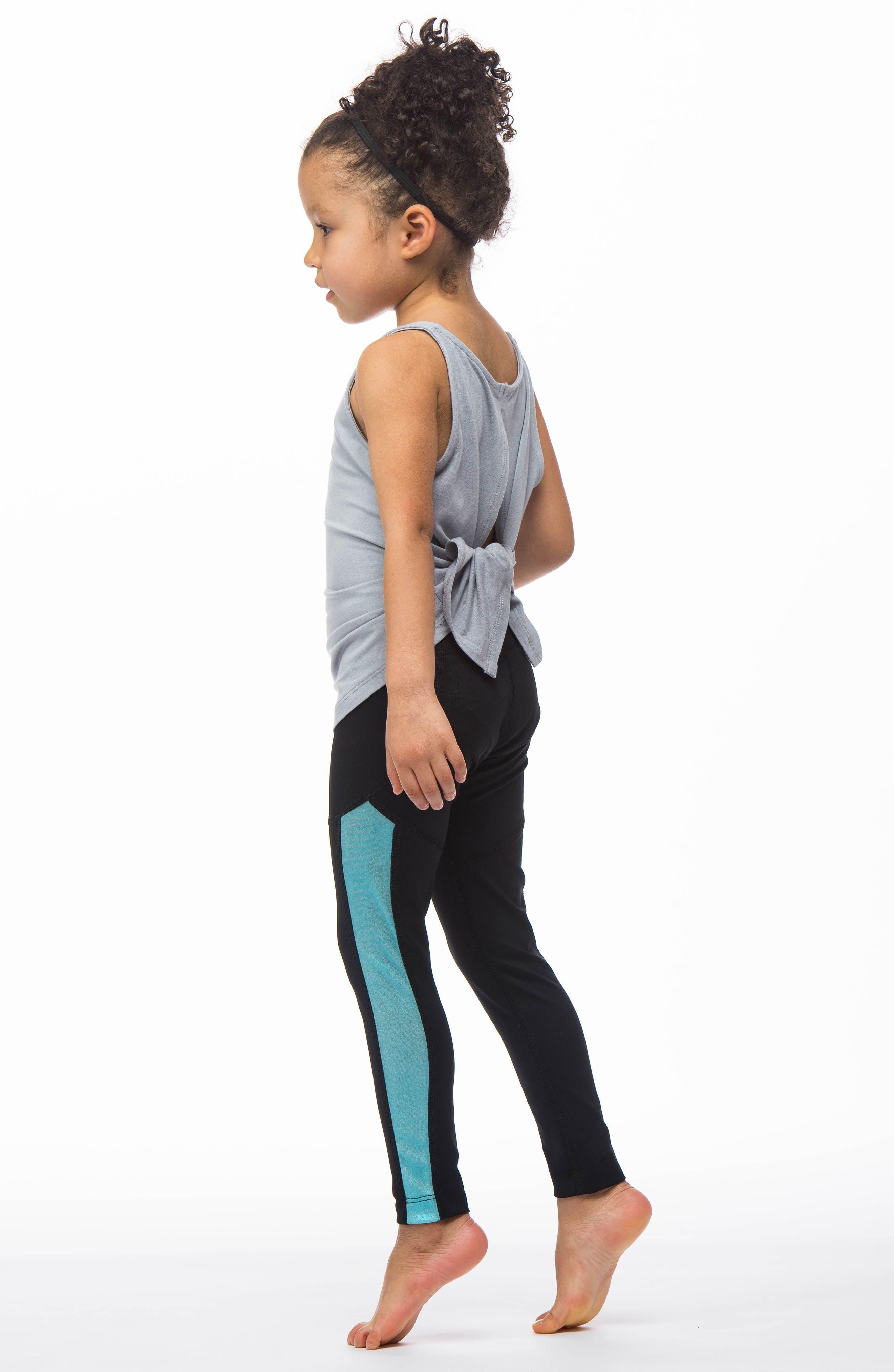 MIRA RAE,                             Zara Colorblock Leggings,                             Alternate thumbnail 5, color,                             001