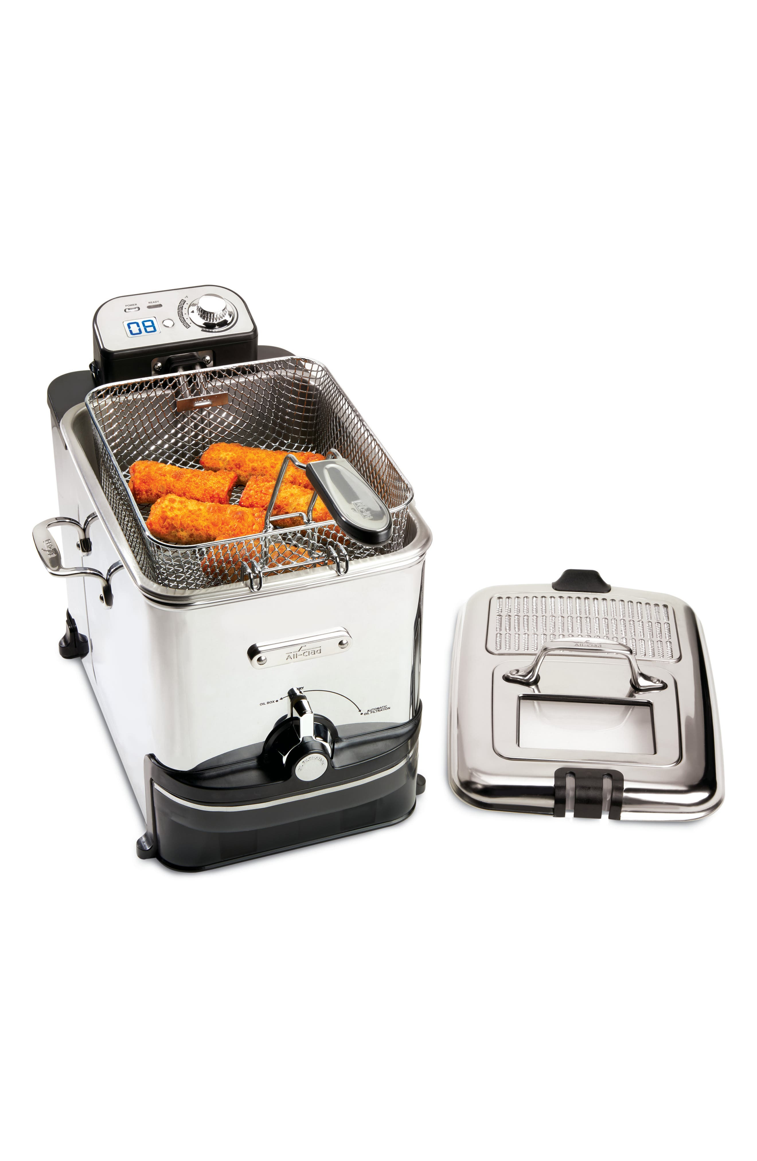 Clean Pro Deep Fryer,                             Alternate thumbnail 5, color,                             SILVER
