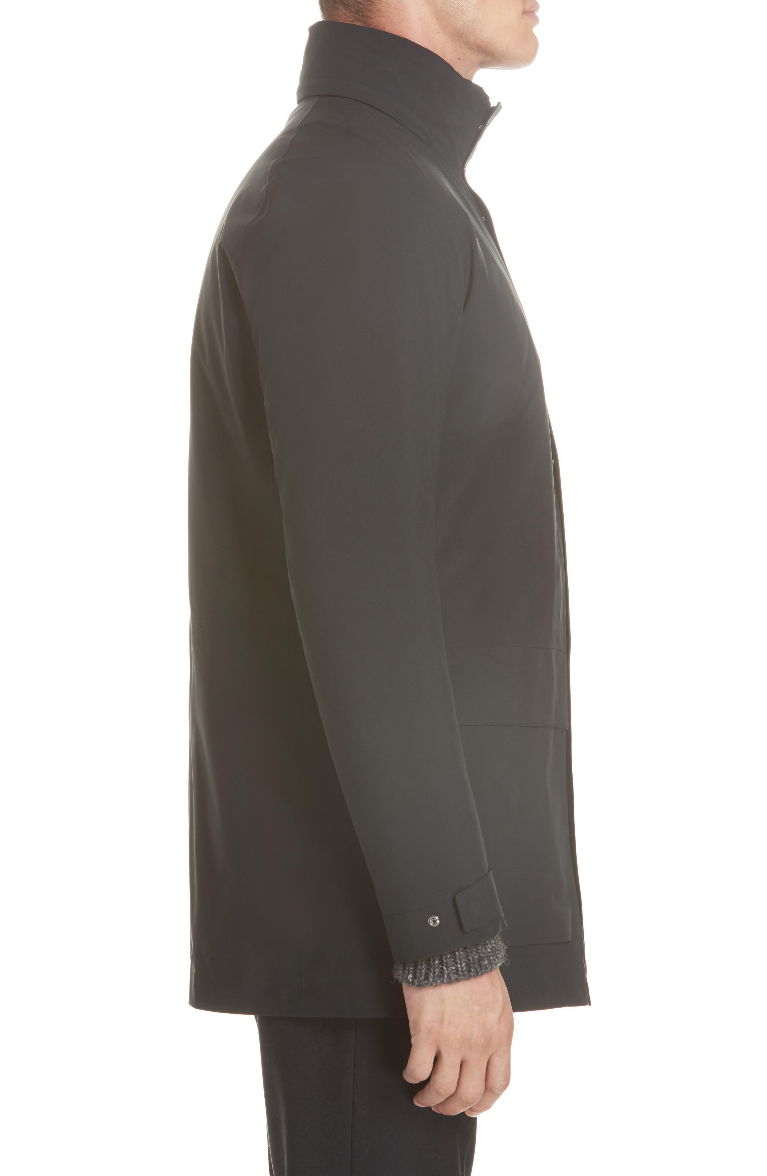 Z Zenga Trim Fit 3-in-1 Jacket,                             Alternate thumbnail 4, color,                             BLACK