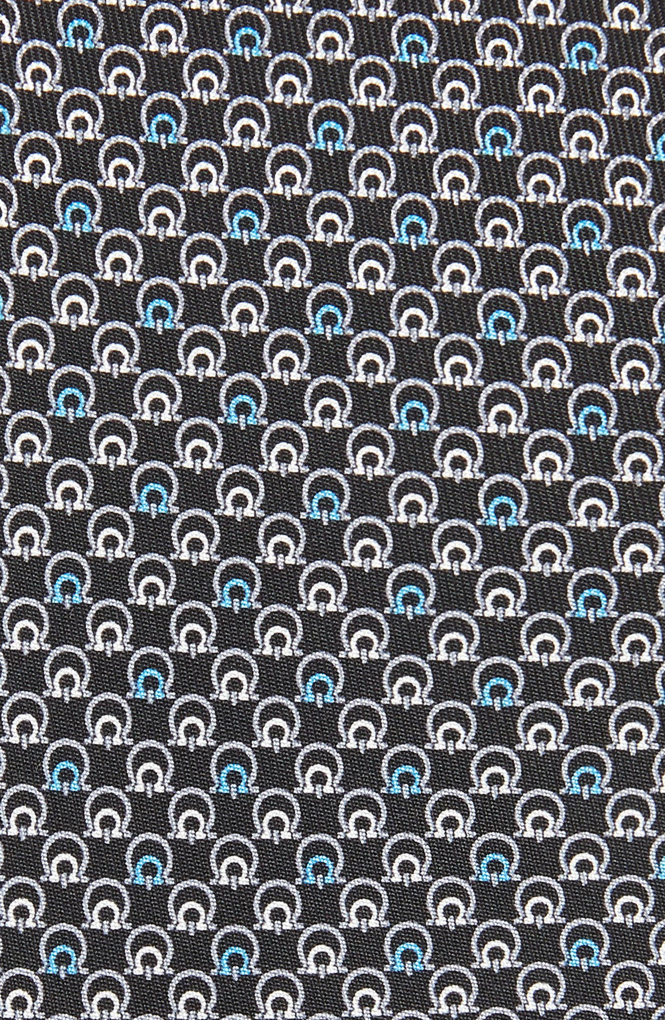 Estro Print Silk Tie,                             Alternate thumbnail 2, color,                             BLACK