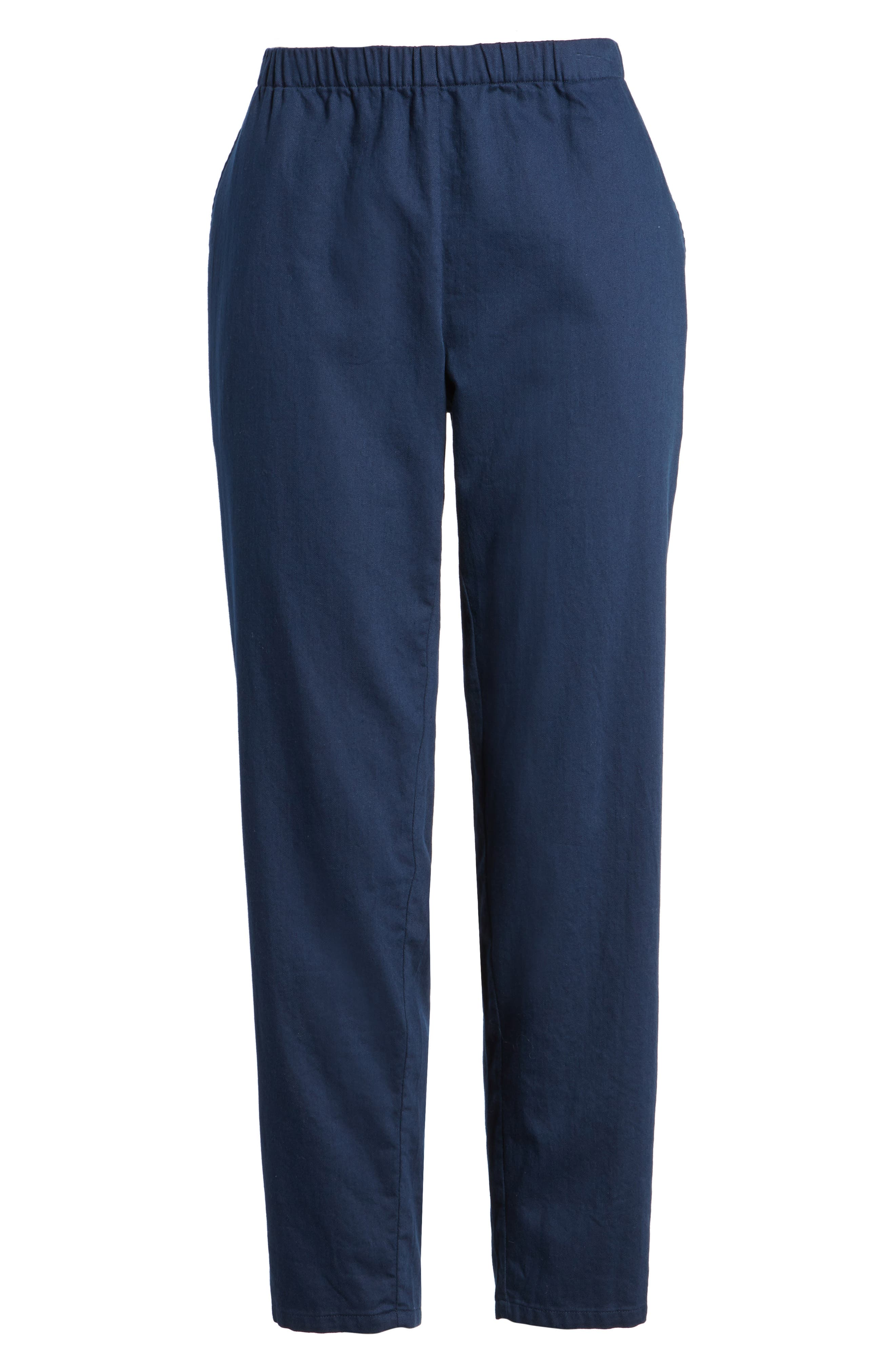 Organic Cotton Tapered Ankle Pants,                             Alternate thumbnail 25, color,
