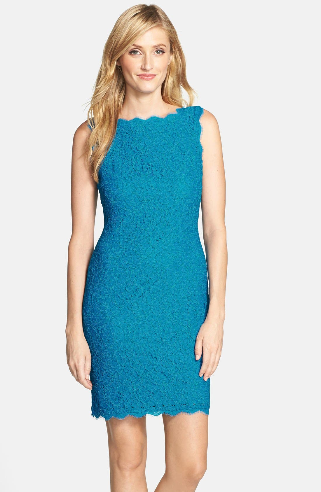 Boatneck Lace Sheath Dress,                             Main thumbnail 19, color,