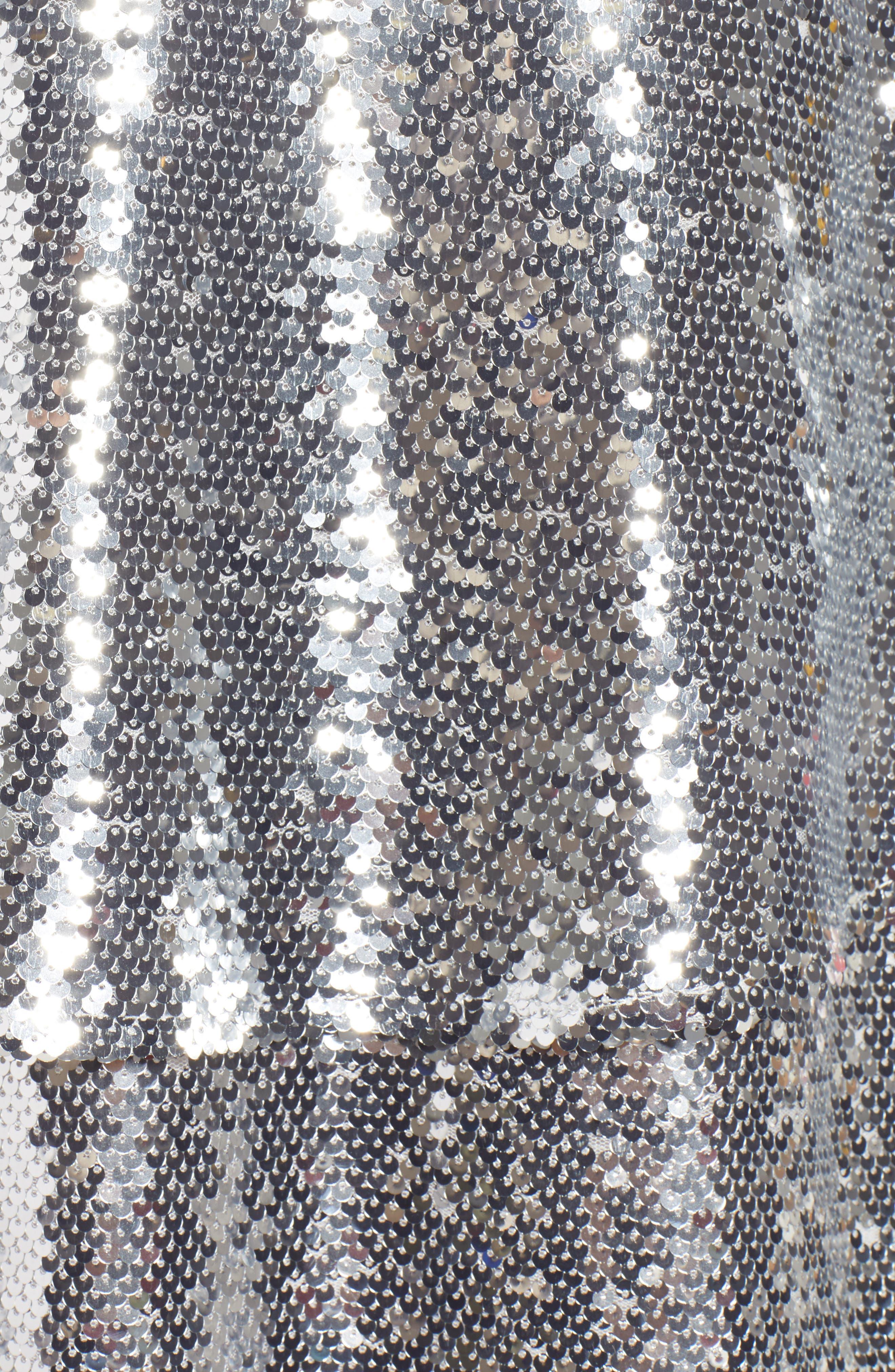 Tiered Sequin Midi Skirt,                             Alternate thumbnail 5, color,                             040