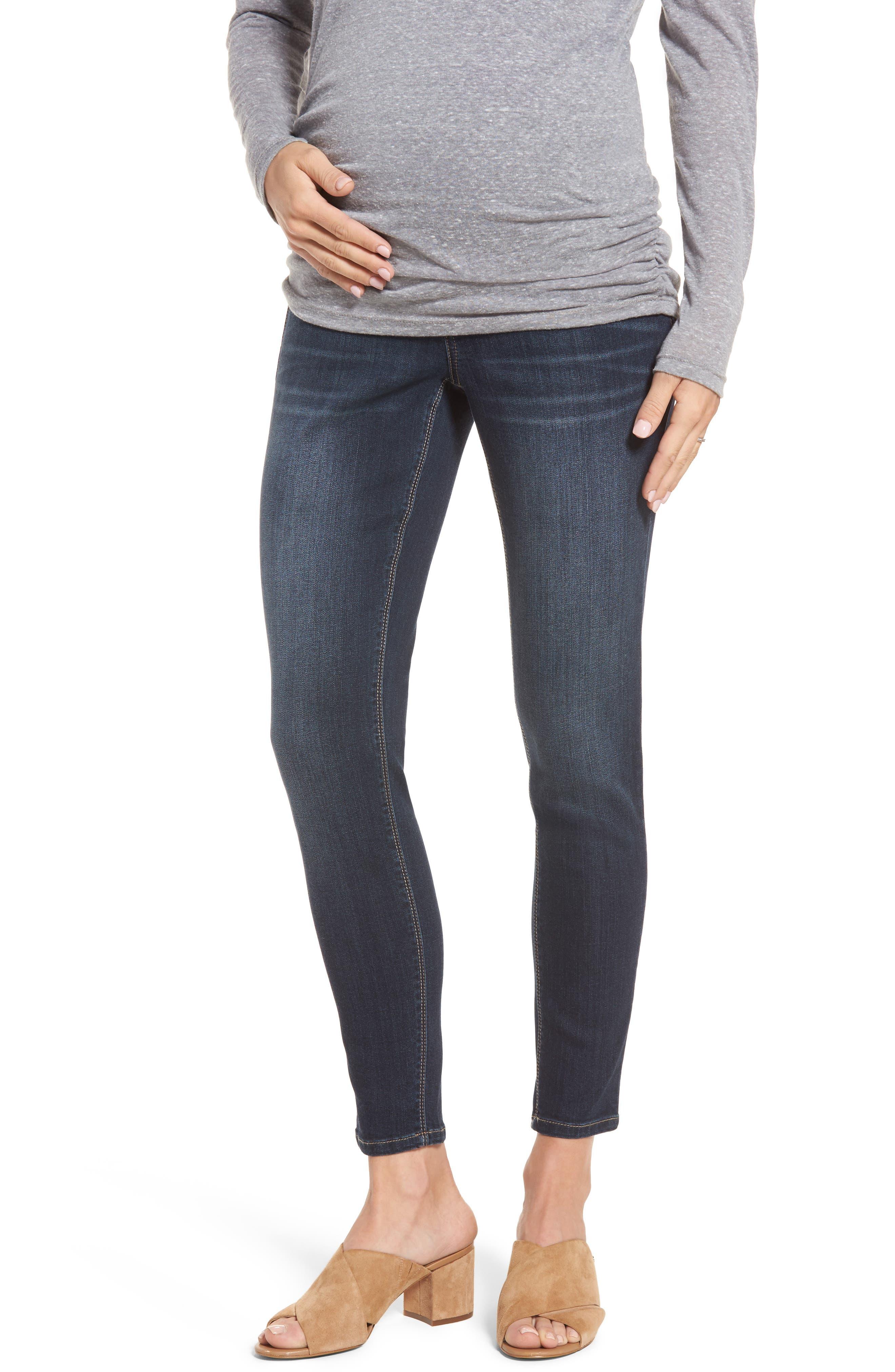 Maternity Ankle Skinny Jeans,                             Main thumbnail 1, color,                             LENNOX