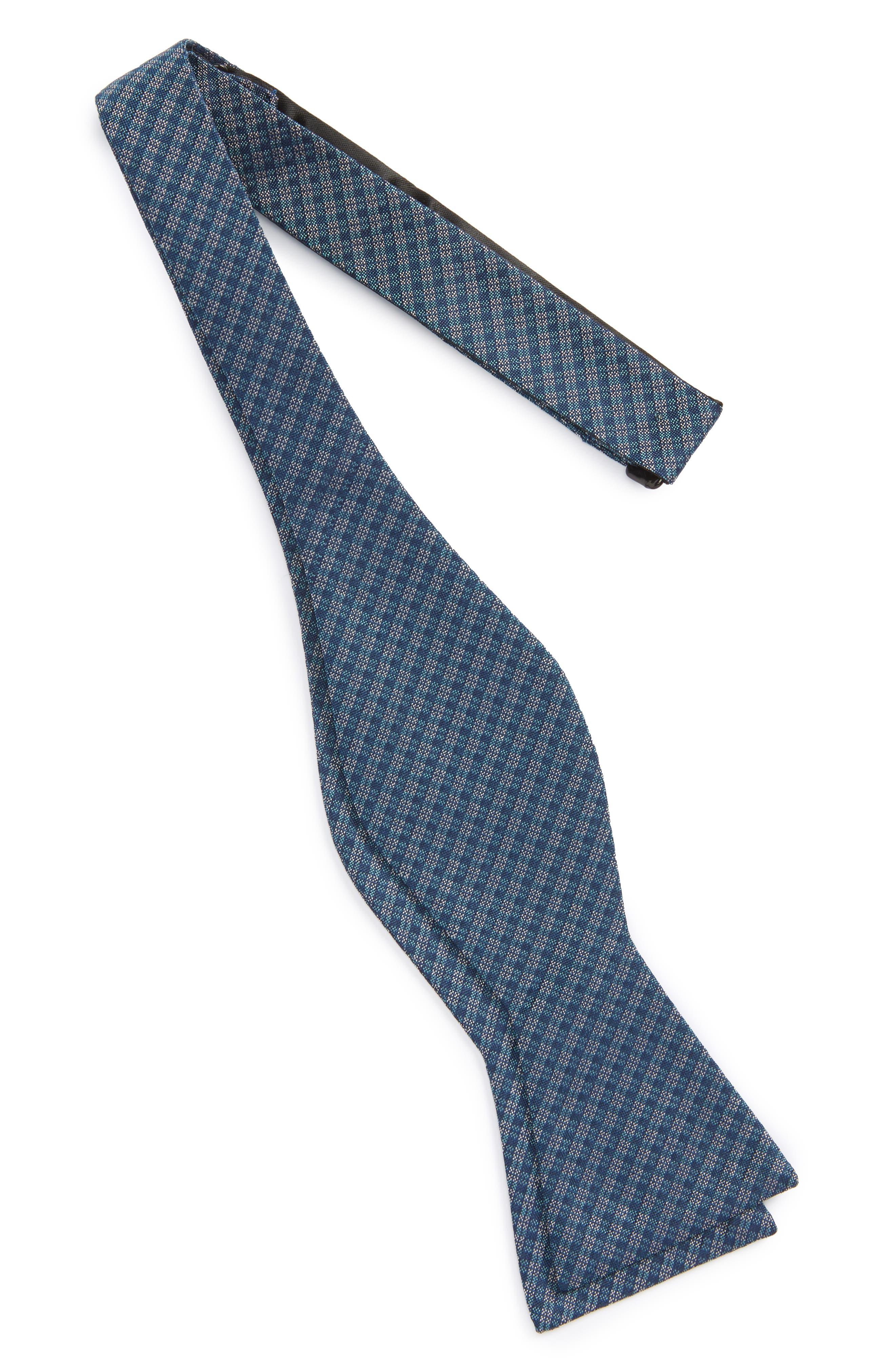 Check Silk Bow Tie,                             Main thumbnail 3, color,