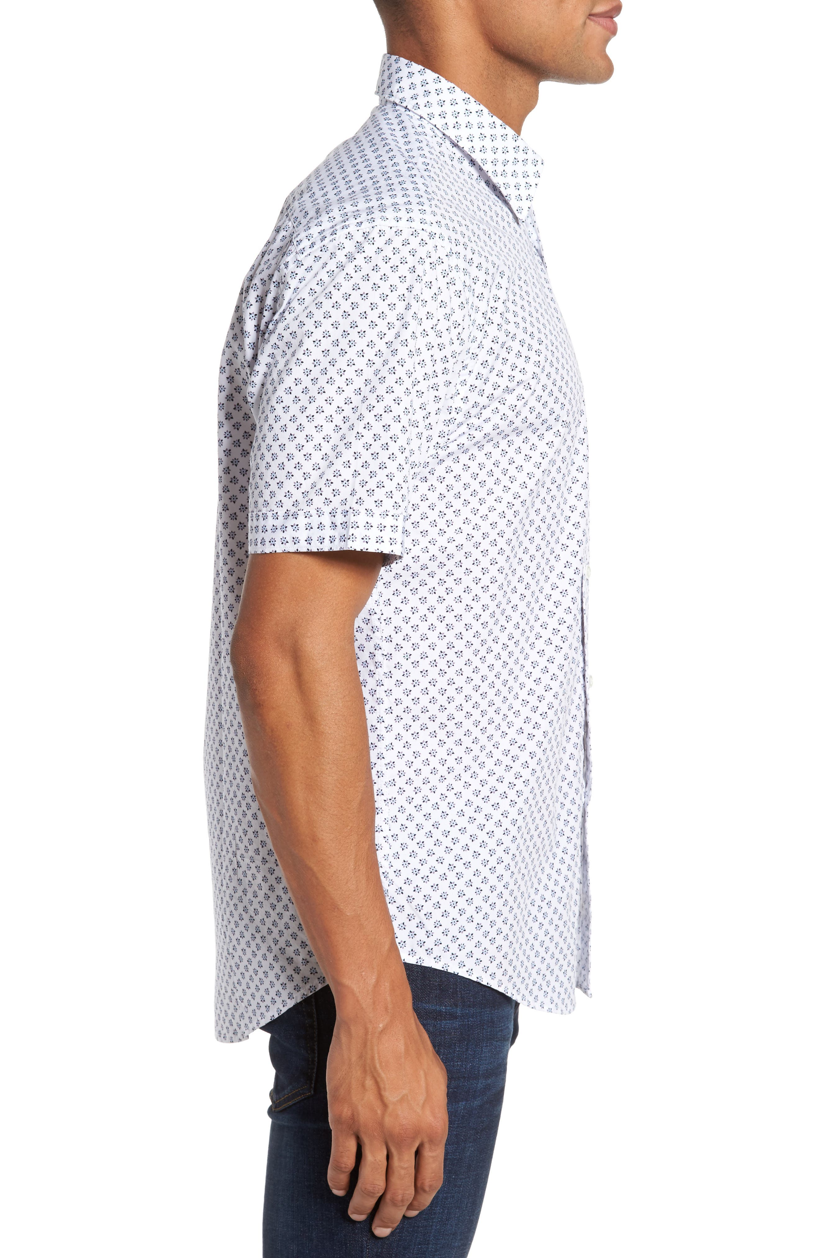 Santo Regular Fit Print Sport Shirt,                             Alternate thumbnail 3, color,                             001