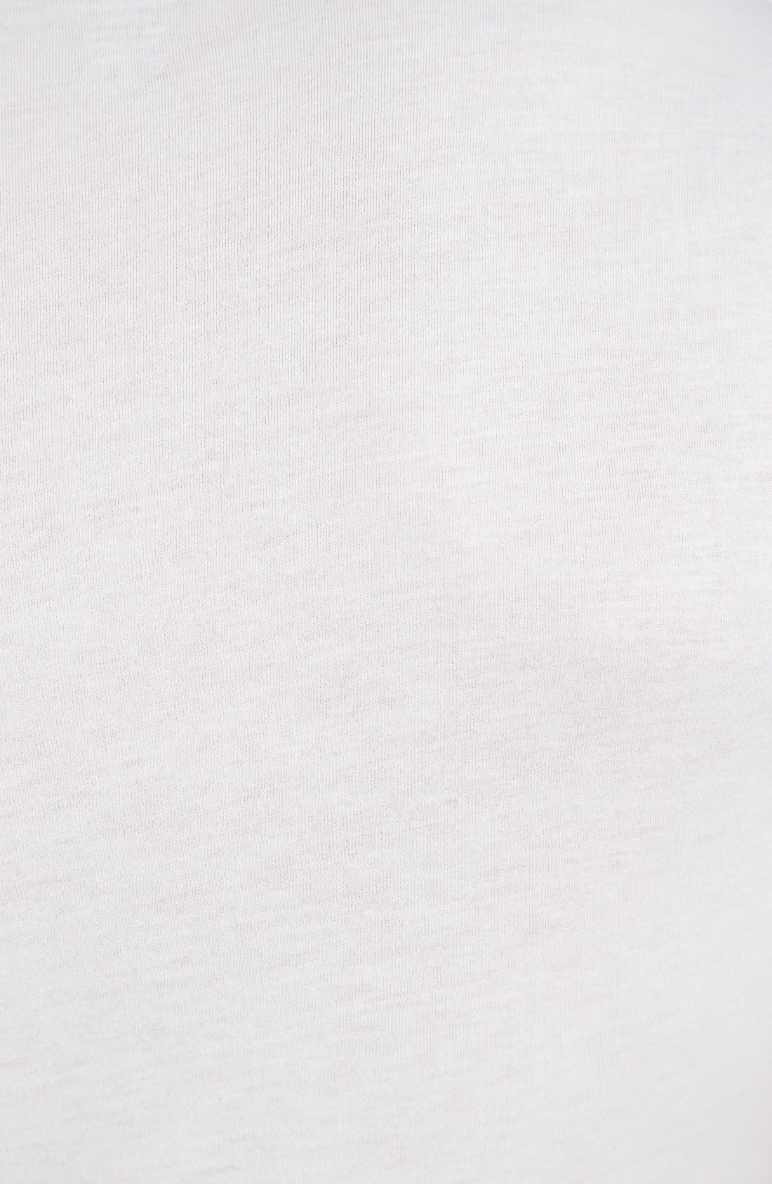 Slim Fit Pima Cotton Deep V-Neck T-Shirt,                             Alternate thumbnail 3, color,                             WHITE