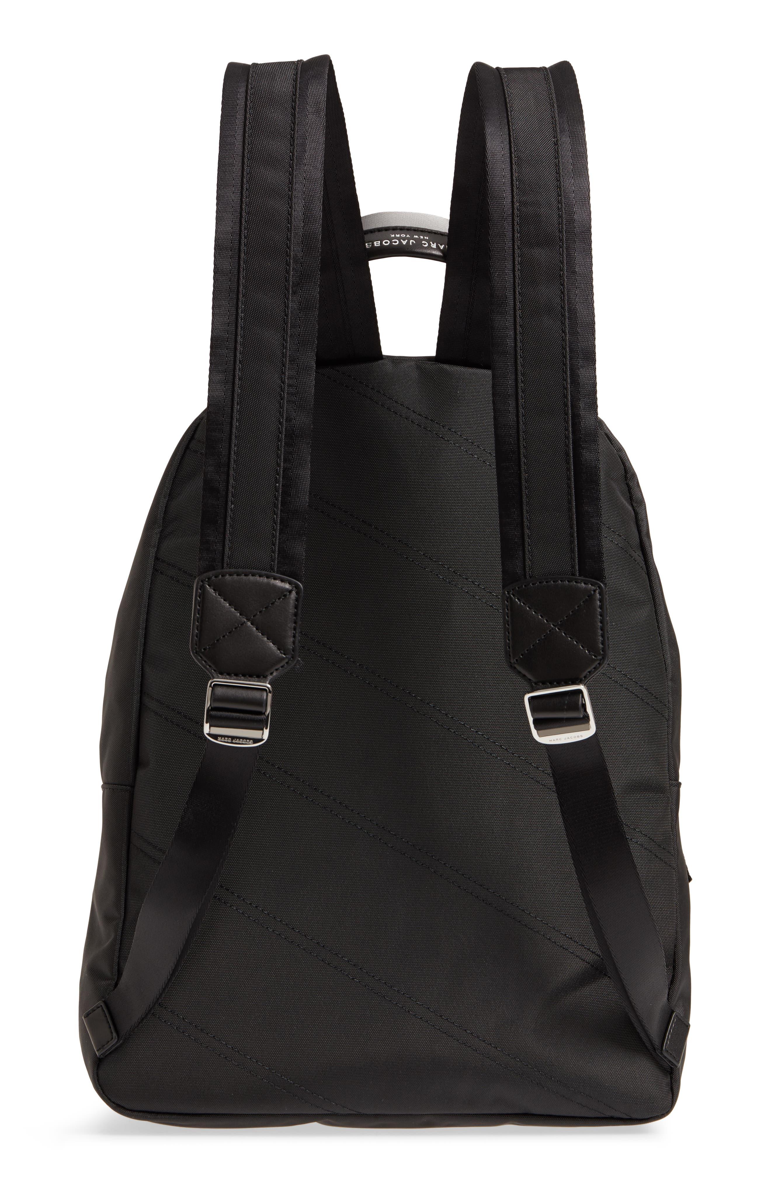 Large Sport Trek Nylon Backpack,                             Alternate thumbnail 3, color,                             BLACK