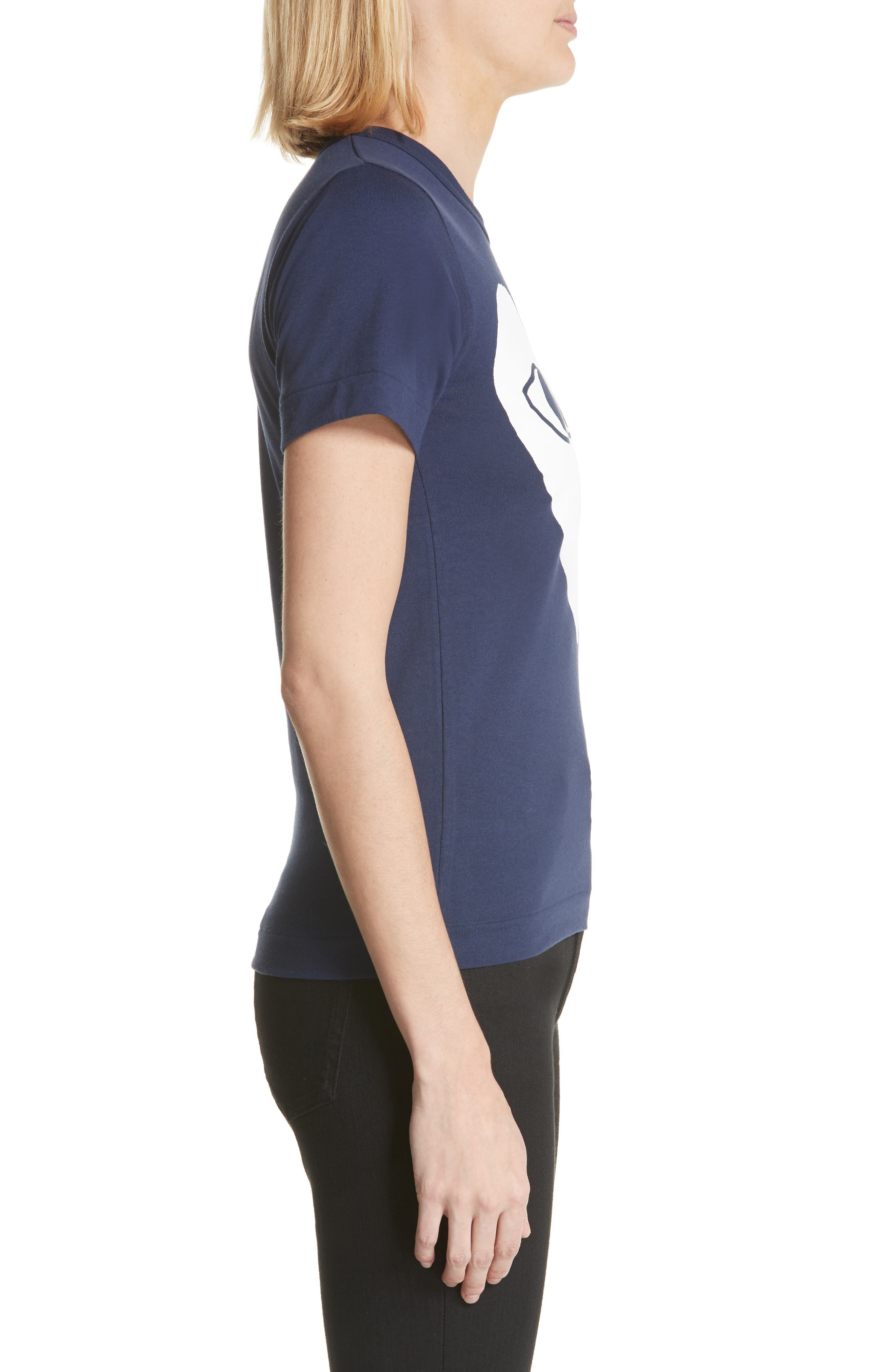 Big Heart Graphic Tee,                             Alternate thumbnail 3, color,                             NAVY